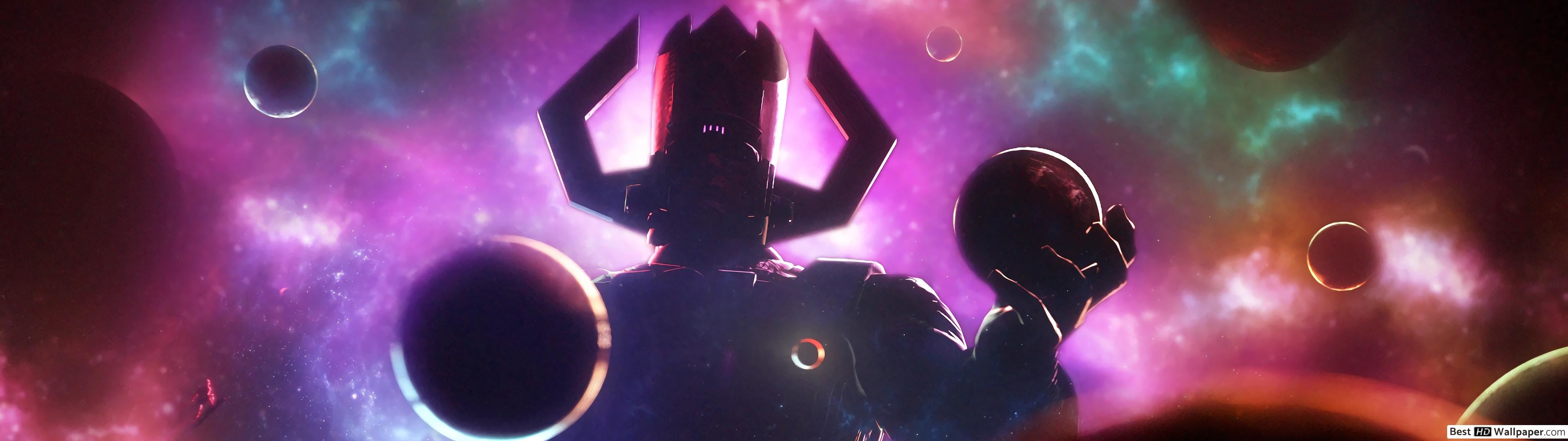Res: 3840x1080, Cool Artwork Wallpaper Of Galactus Source · Galactus HD wallpaper download