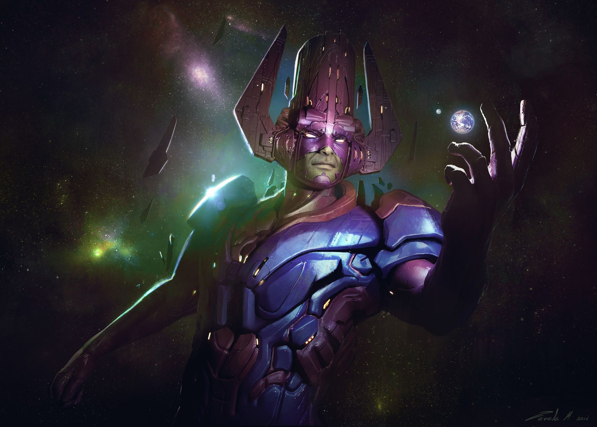 Res: 1920x1374, ArtStation - Galactus Arrives, Stephen Zavala