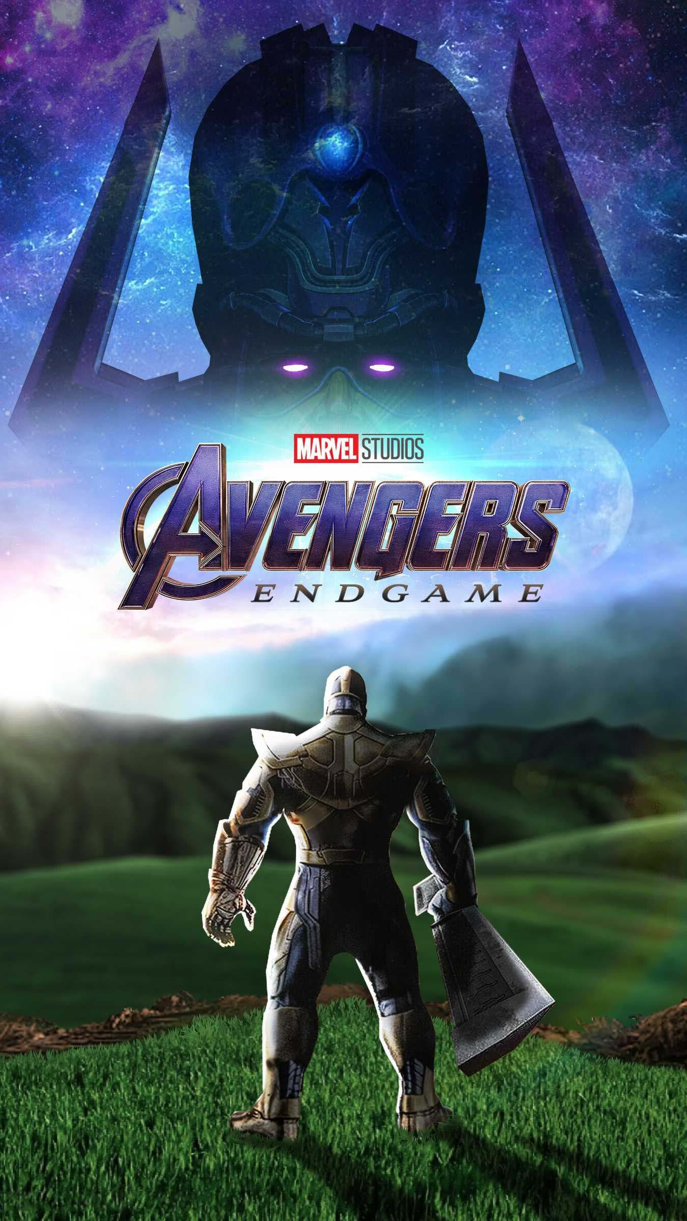 Res: 1350x2400, Avengers Endgame Thanos vs Galactus iPhone Wallpaper