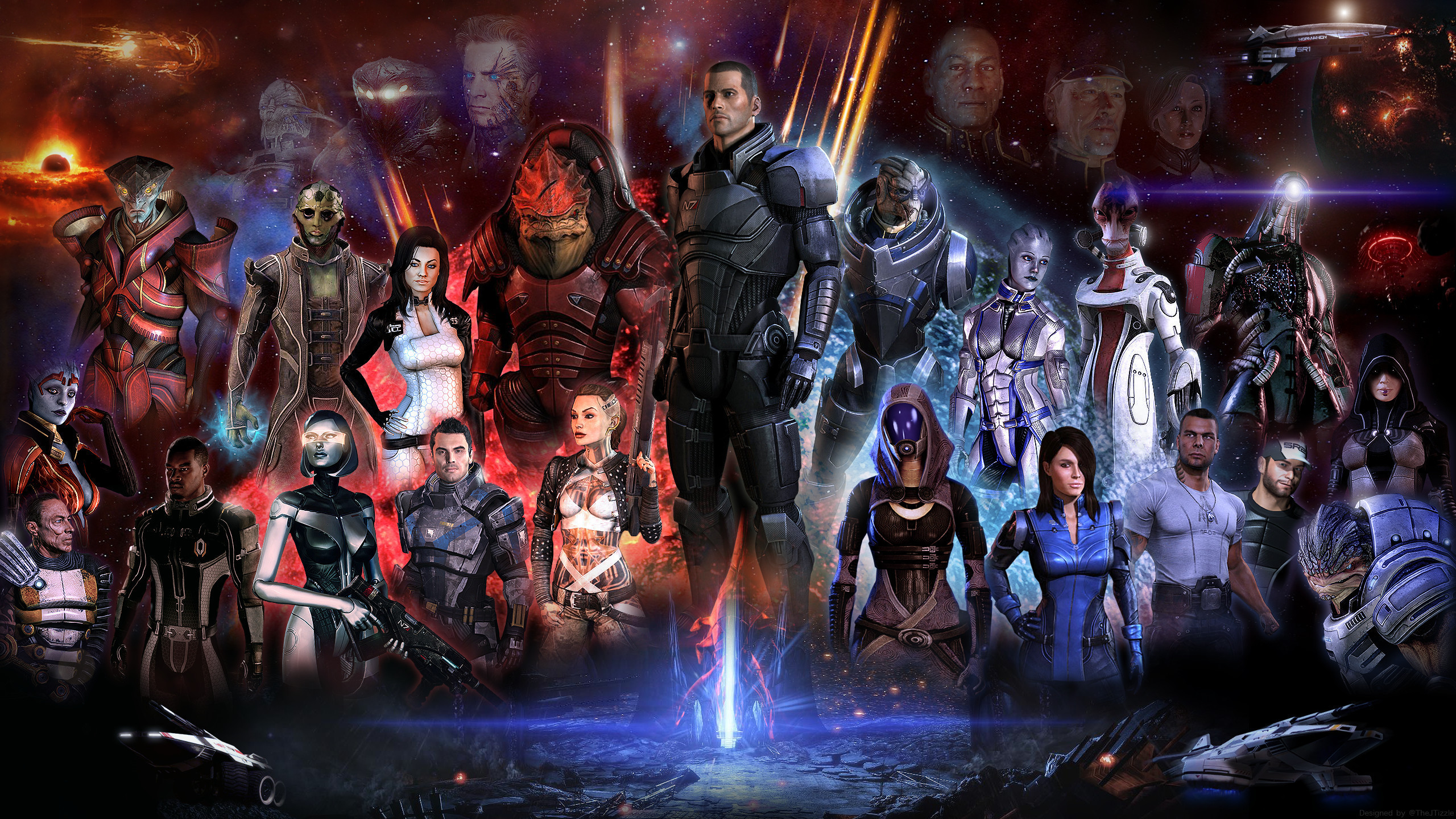Res: 2560x1440, ... 2014 Mass Effect 3 Wallpaper IPhone Wallpaper WallpaperLepi