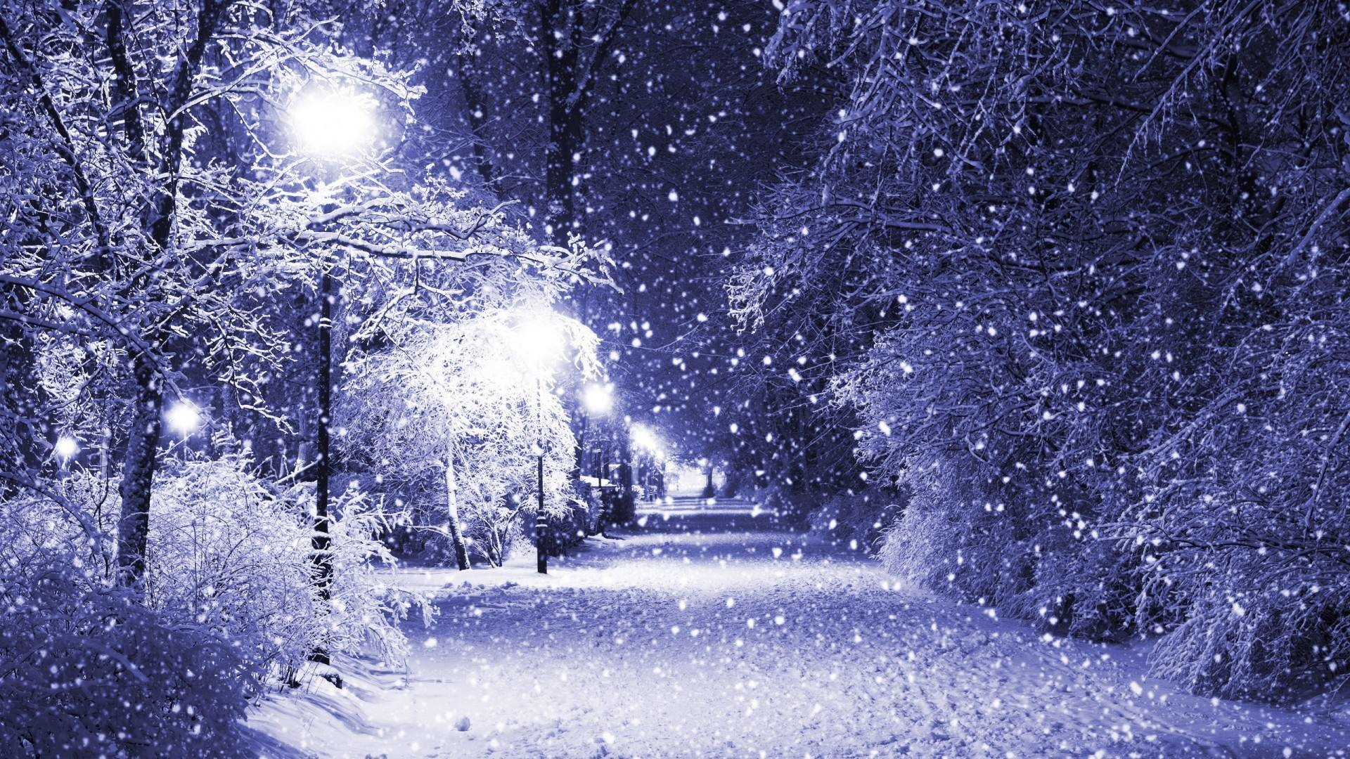 Res: 1920x1080, Snowfall on the Street Wallpaper | warnerboutique