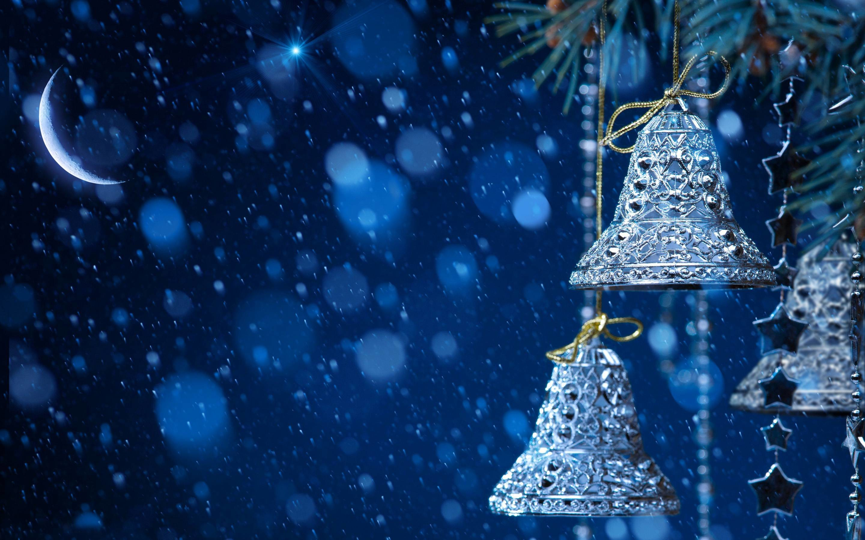 Res: 2880x1800, Snowfall in Christmas Eve HD Wallpaper | HD Wallpapers Free Download