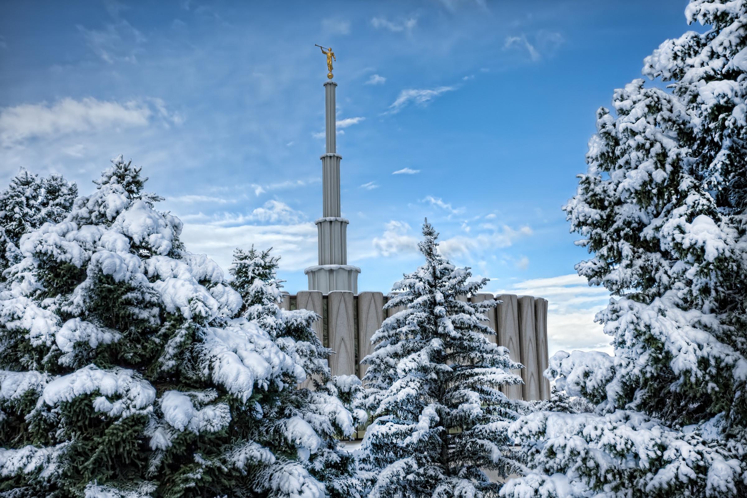 Res: 2400x1600, Provo Temple Snowfall Wallpaper HD