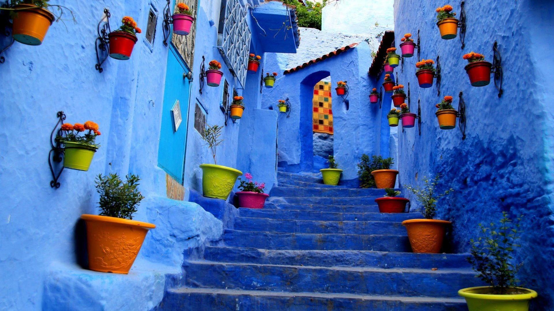 Res: 1920x1080, Wallpaper Pack - Blue City / Morocco (Rare)