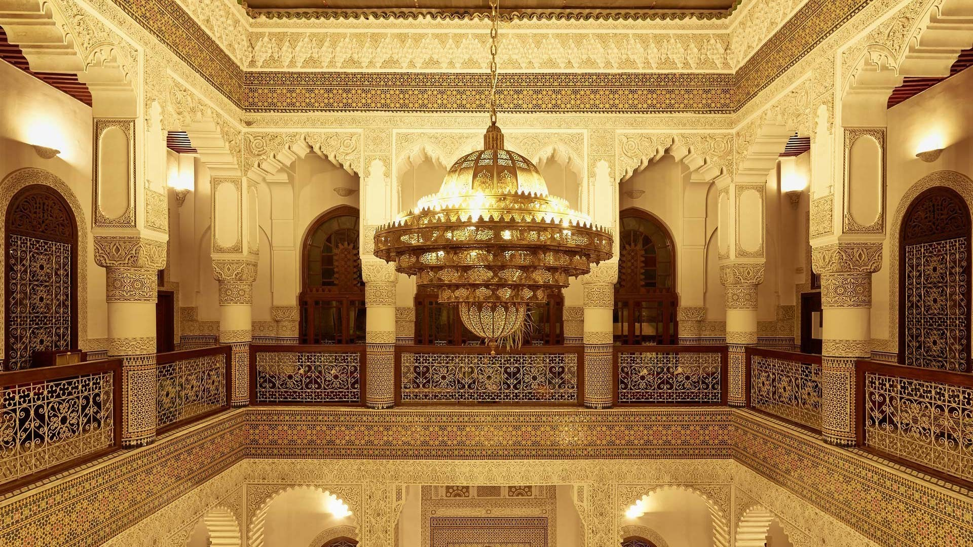 Res: 1920x1080, Riad Fes Morocco Wallpaper Chandelier High Definition Amazing Desktop  Wallpapers For Windows Apple Mac Tablet Download Free