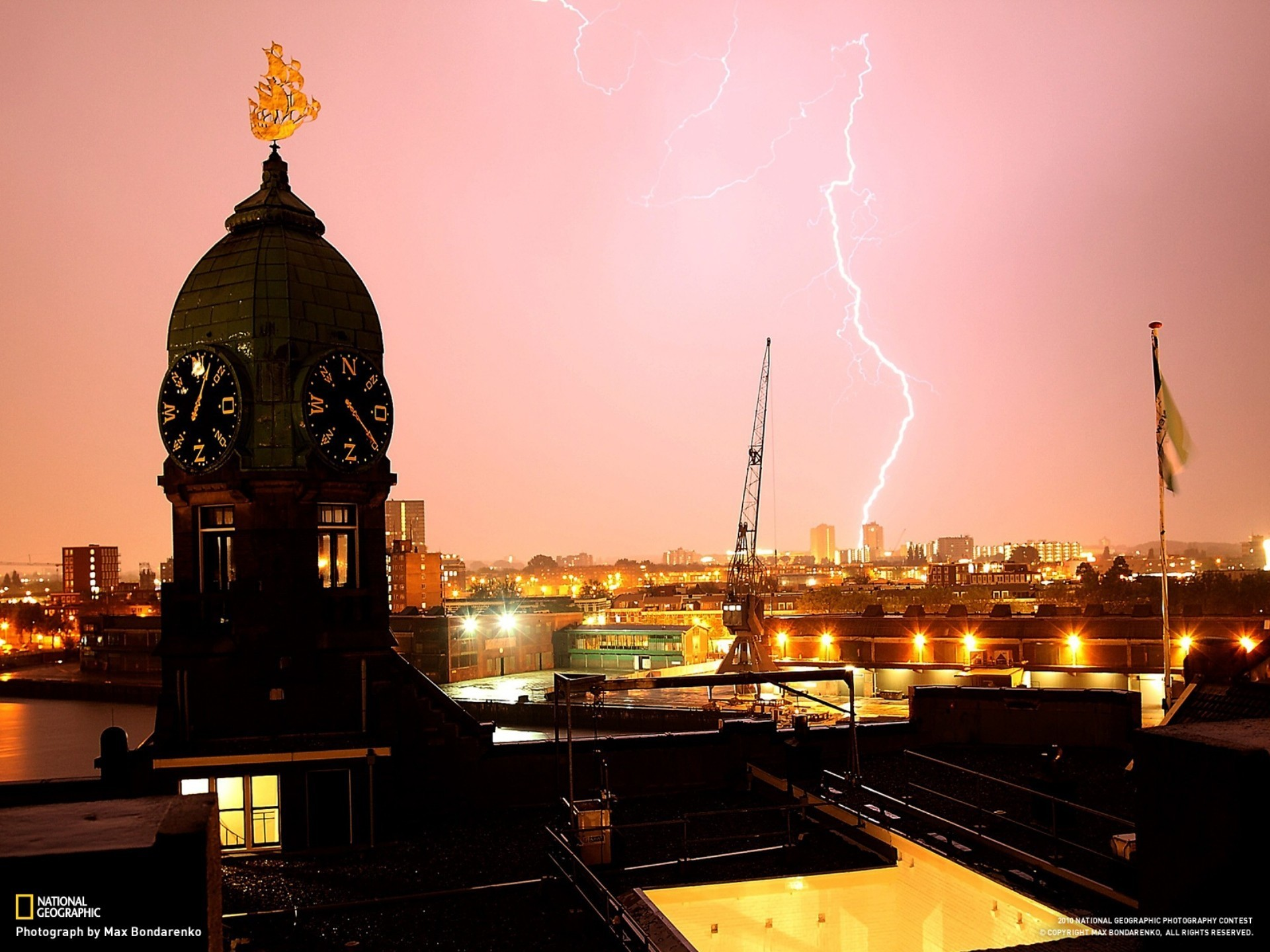 Res: 1920x1440, Cityscapes architecture clocks national geographic lightning morocco  wallpaper