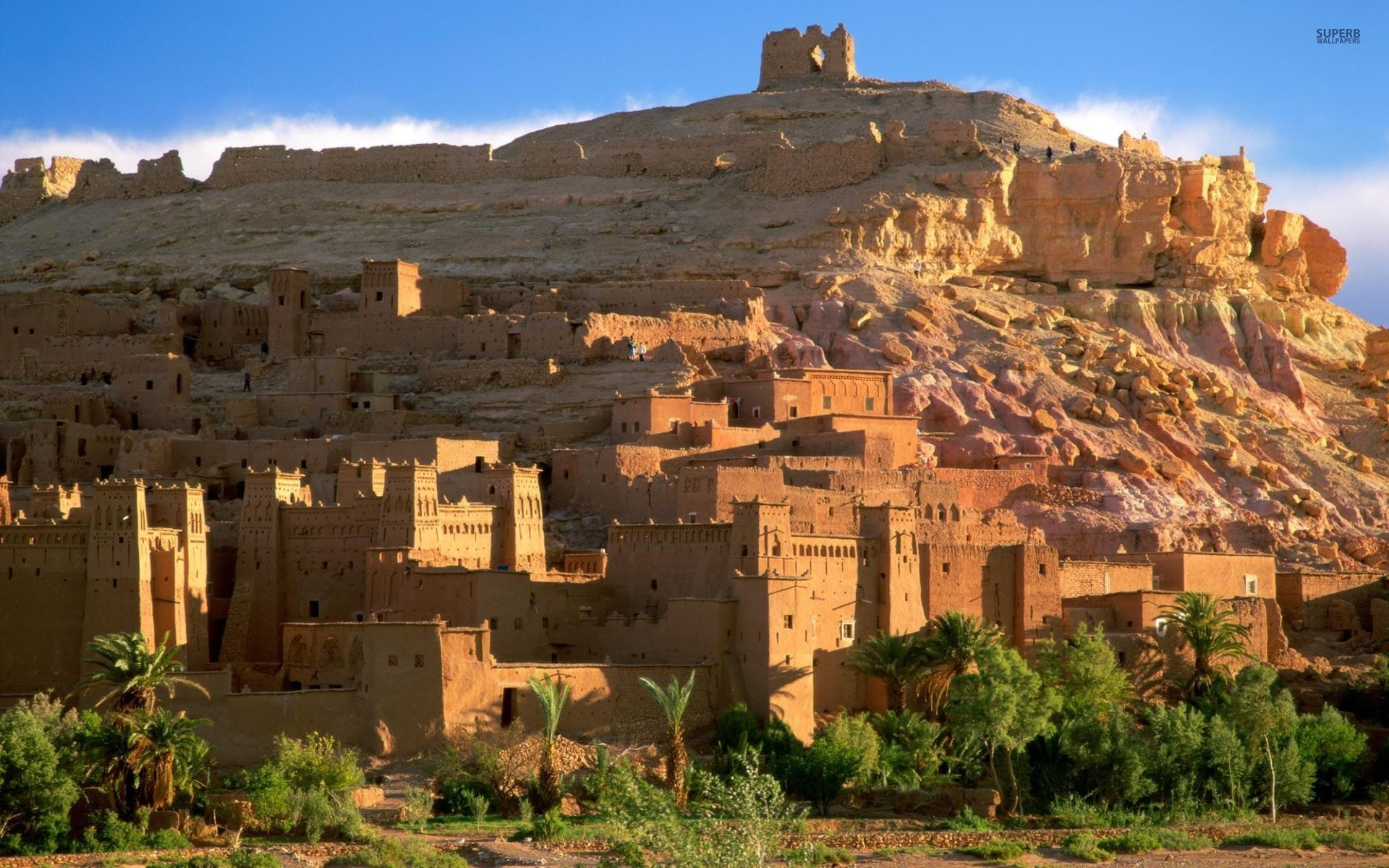 Res: 1920x1200, Image: Kasbah Ruins Morocco wallpapers and stock photos. Â«