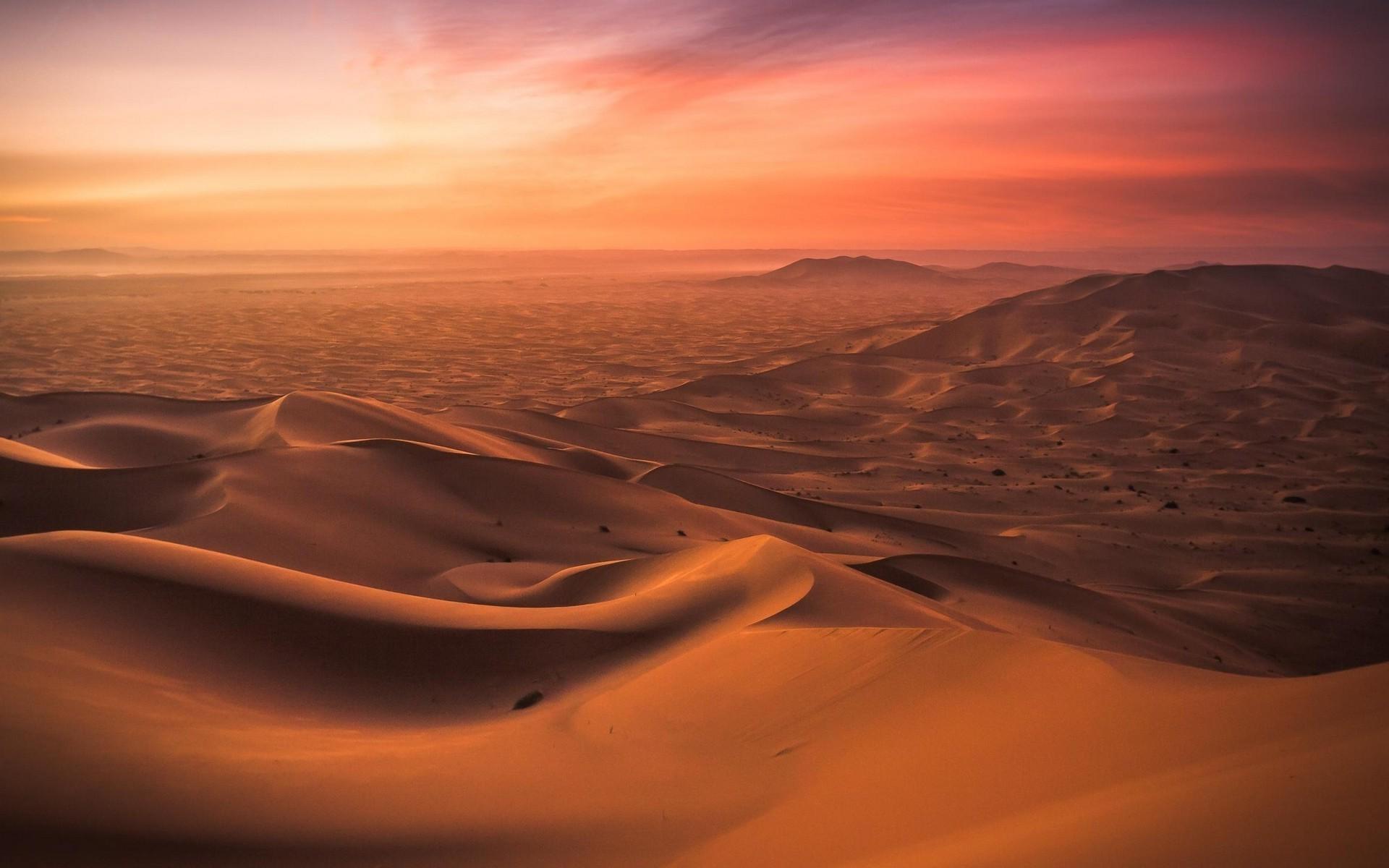 Res: 1920x1200, landscape, Nature, Morocco, Desert, Dune, Sunset