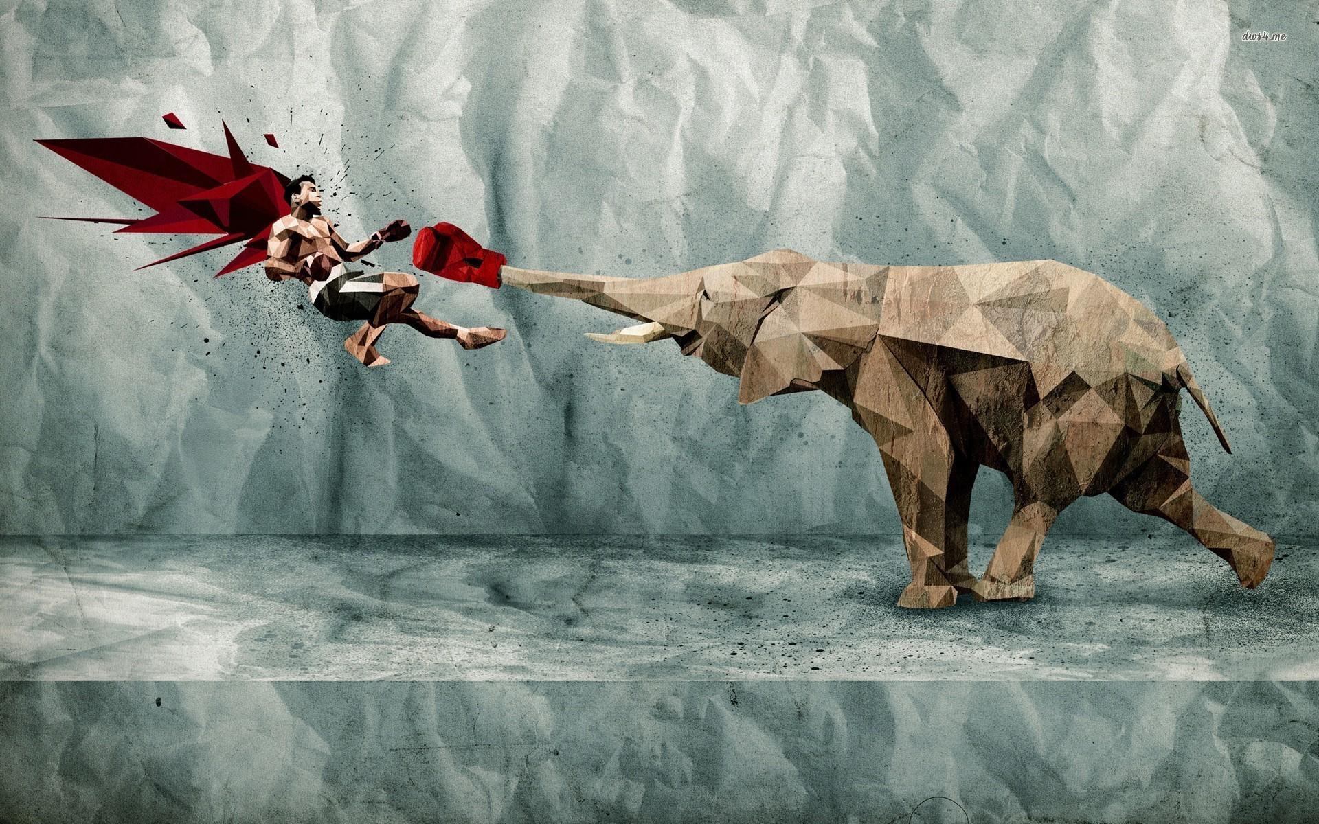 Res: 1920x1200, Fantasy Elephant Wallpaper 17 - 1920 X 1200