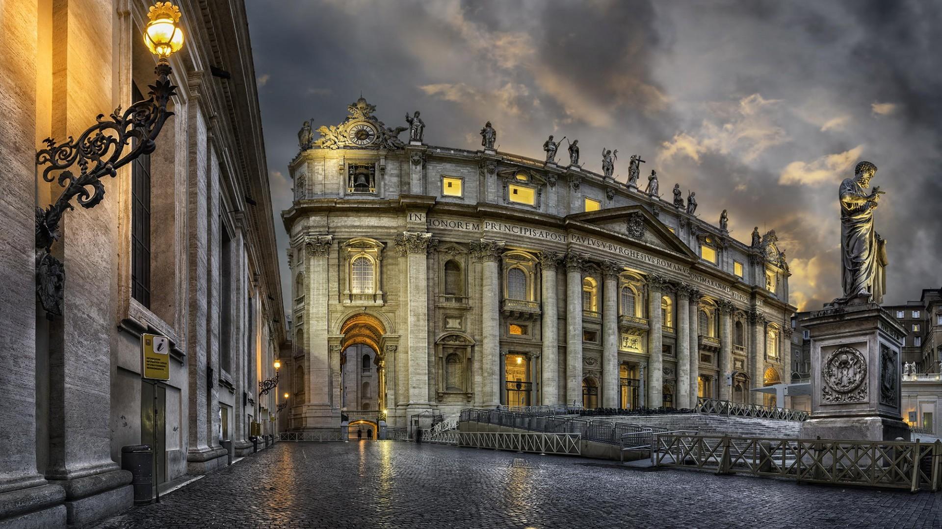 Res: 1920x1080, Vatican City, Basilica De San Pedro  (1080p) - Wallpaper .