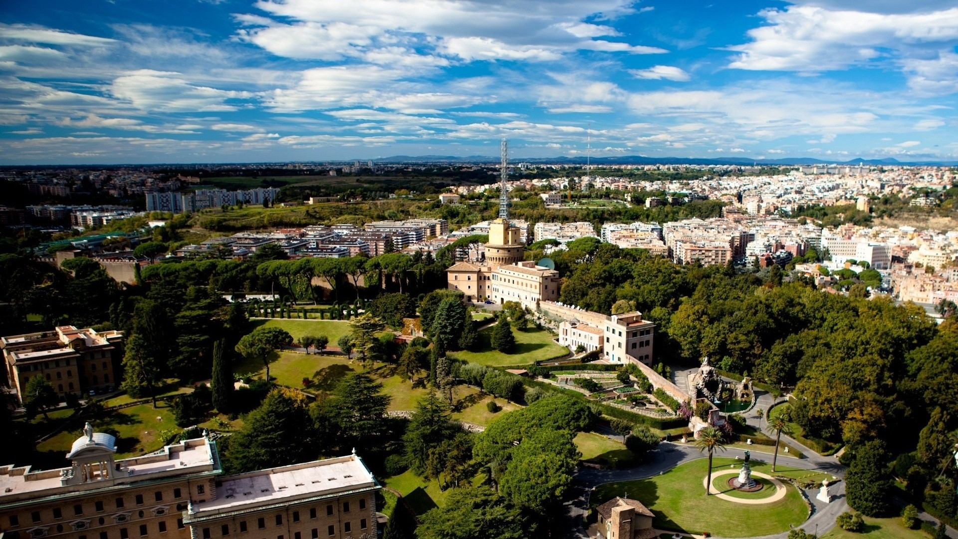 Res: 1920x1080, Urban Area, Vatican City, Panorama, Birds Eye View, Residential Area HD  Wallpaper, City Picture, Background and Image