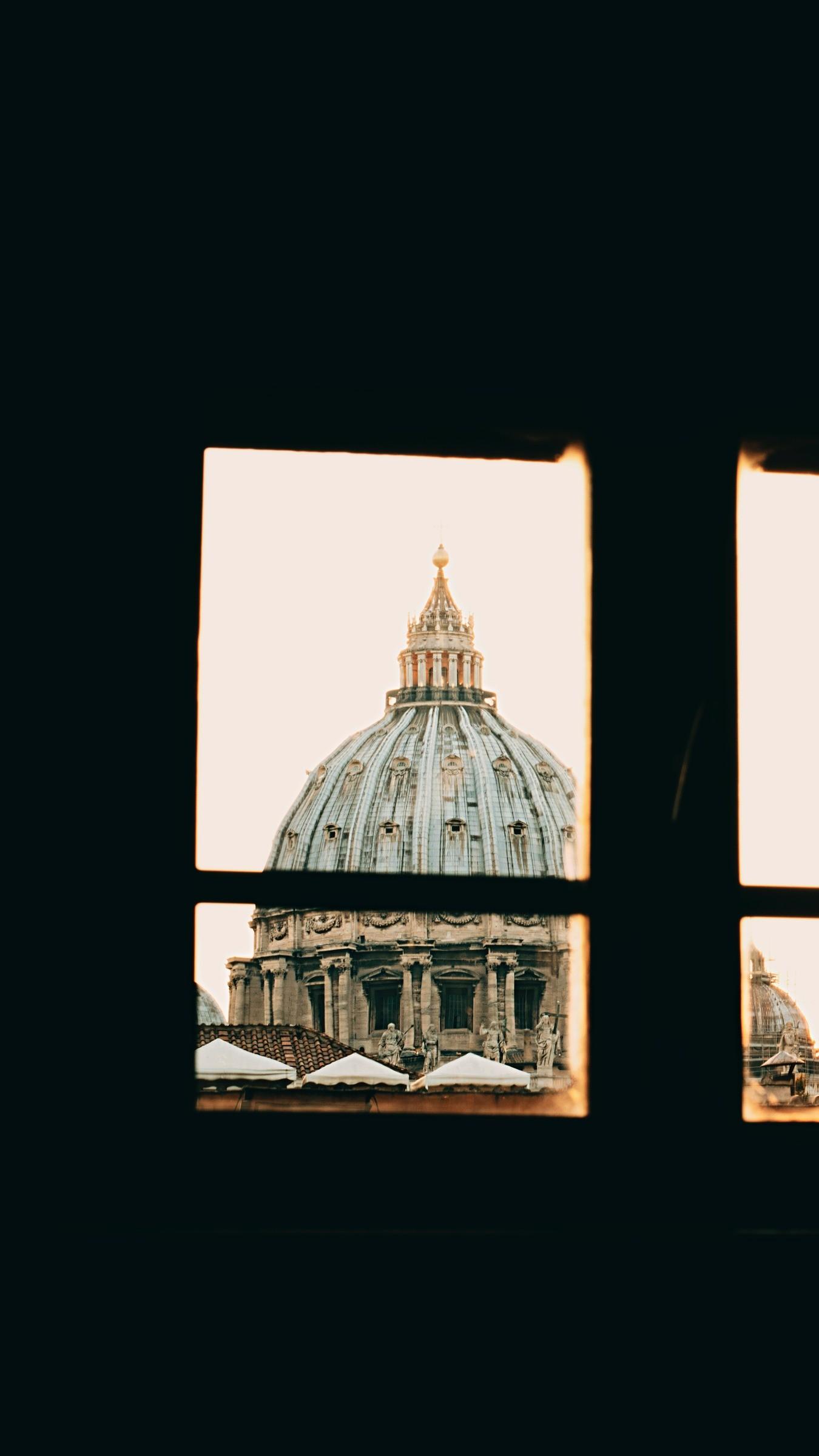 Res: 1350x2400,  Wallpaper window, roof, vatican, architecture