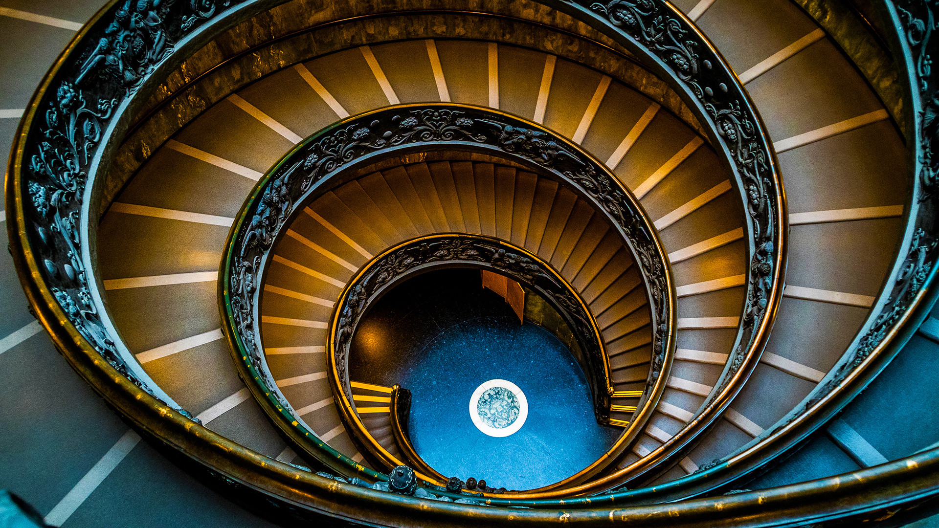 Res: 1920x1080, Vatican Spiral Staircase