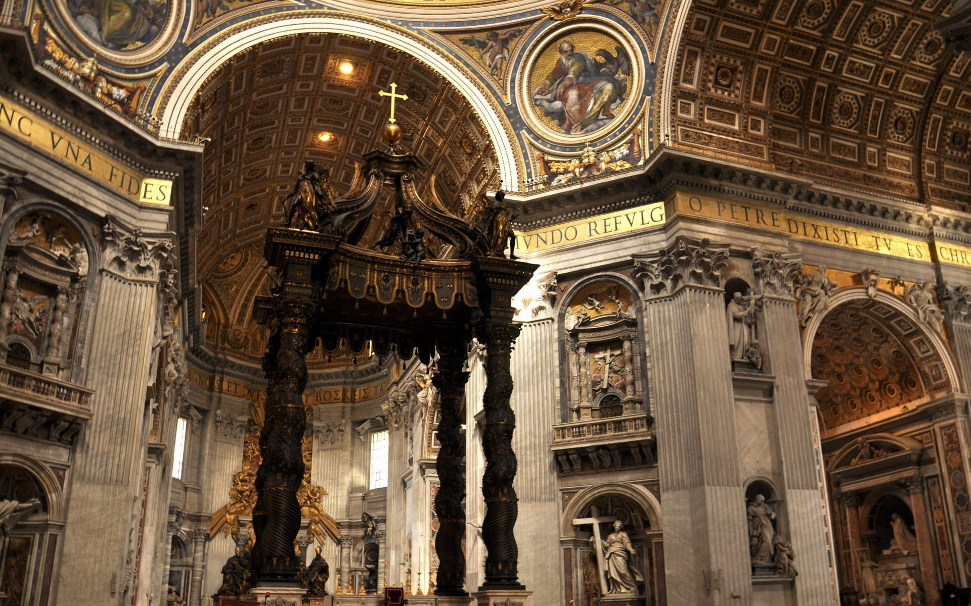 Res: 1920x1200, Inside Of St. Peter's Basilica Wallpapers