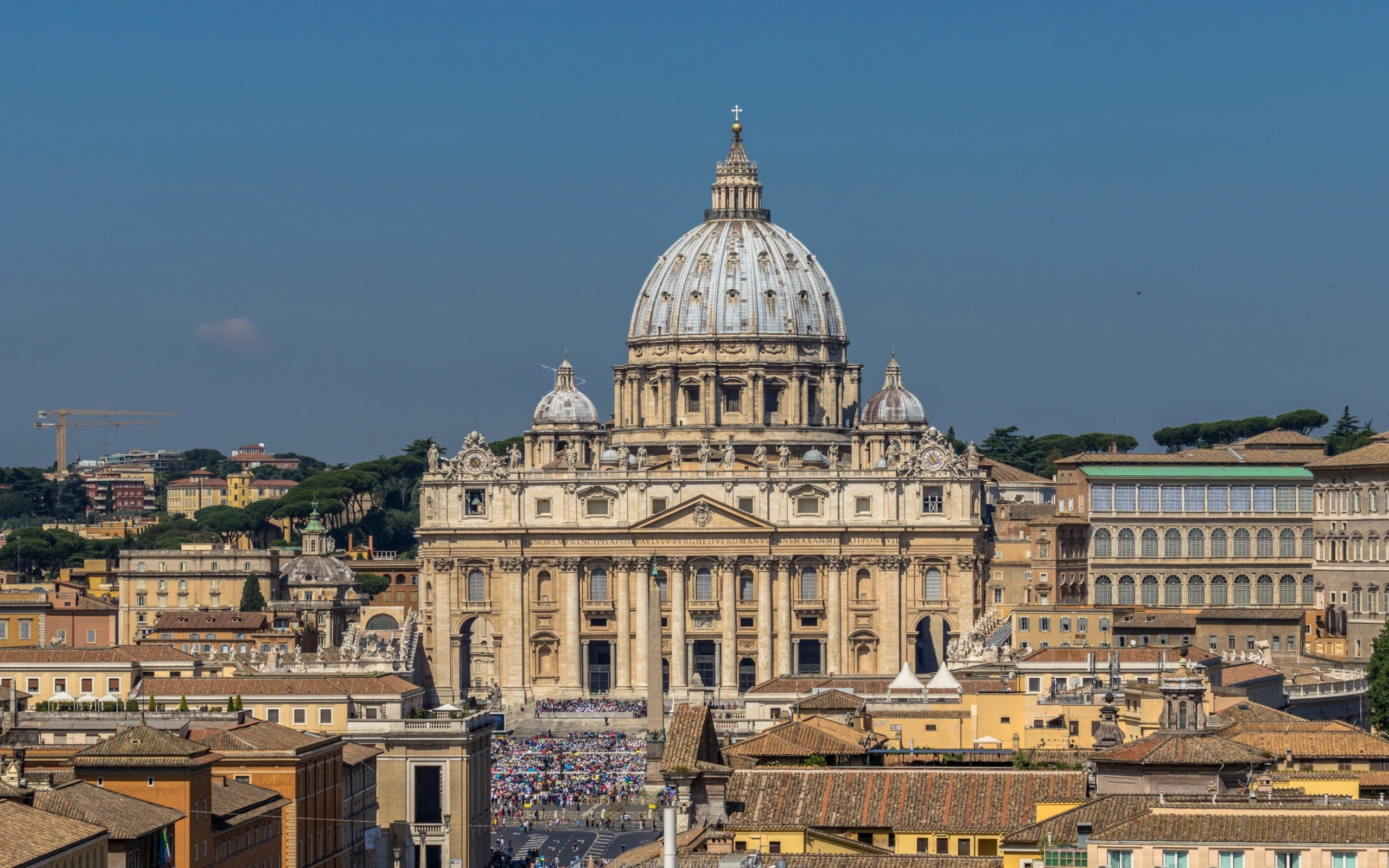 Res: 2560x1600, Saint Peters Basilica, Cathedral, Vatican, Rome, Italy, ancient  architecture, Baroque