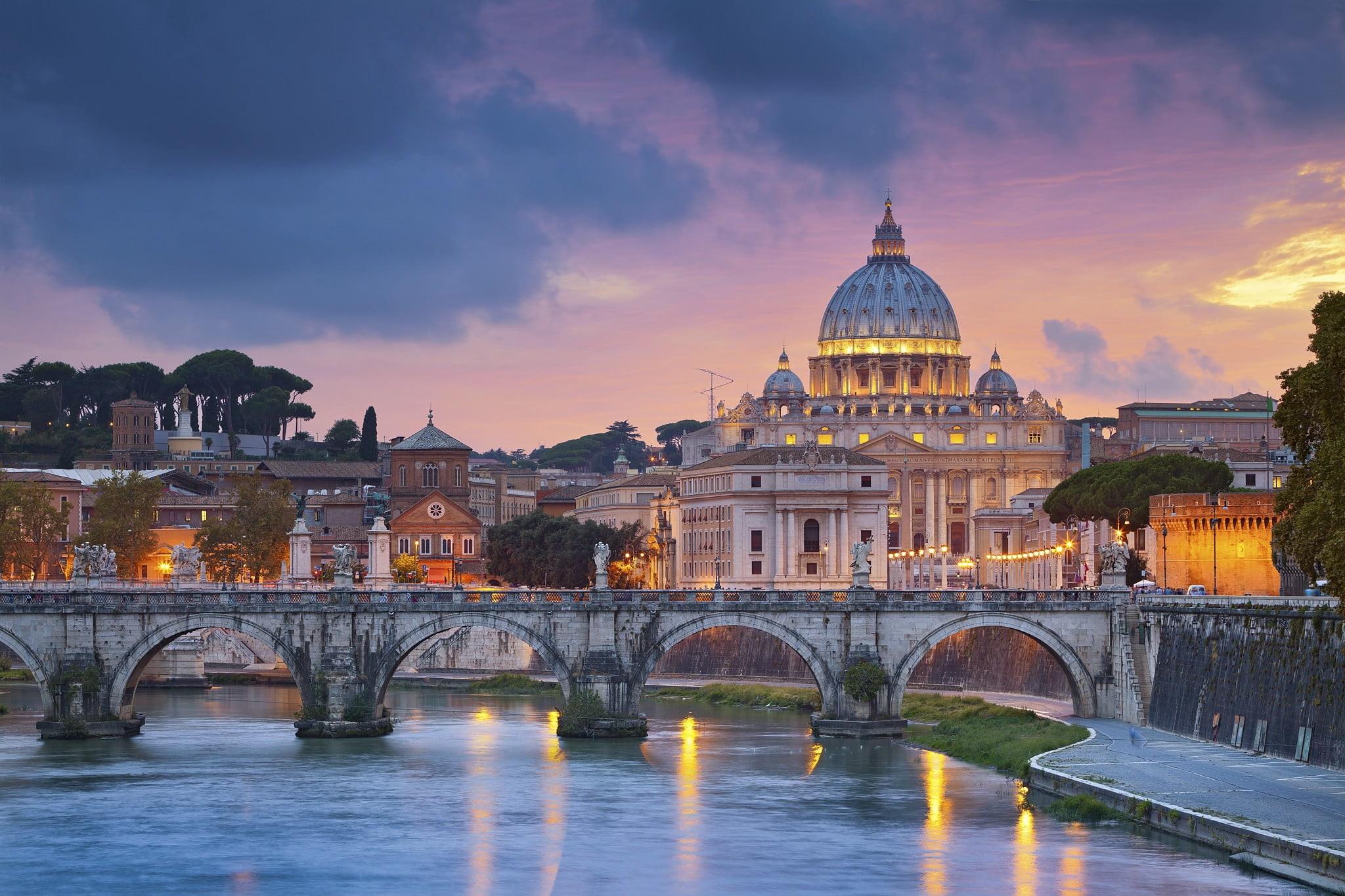 Res: 2048x1365, gray concrete bridge, Rome, Italy, Vatican City, cathedral HD wallpaper