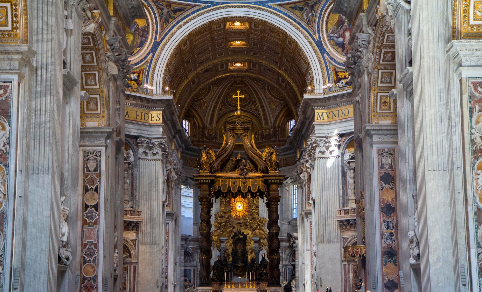 Res: 1979x1200, vatican city st. peter's basilica the altar nave religion