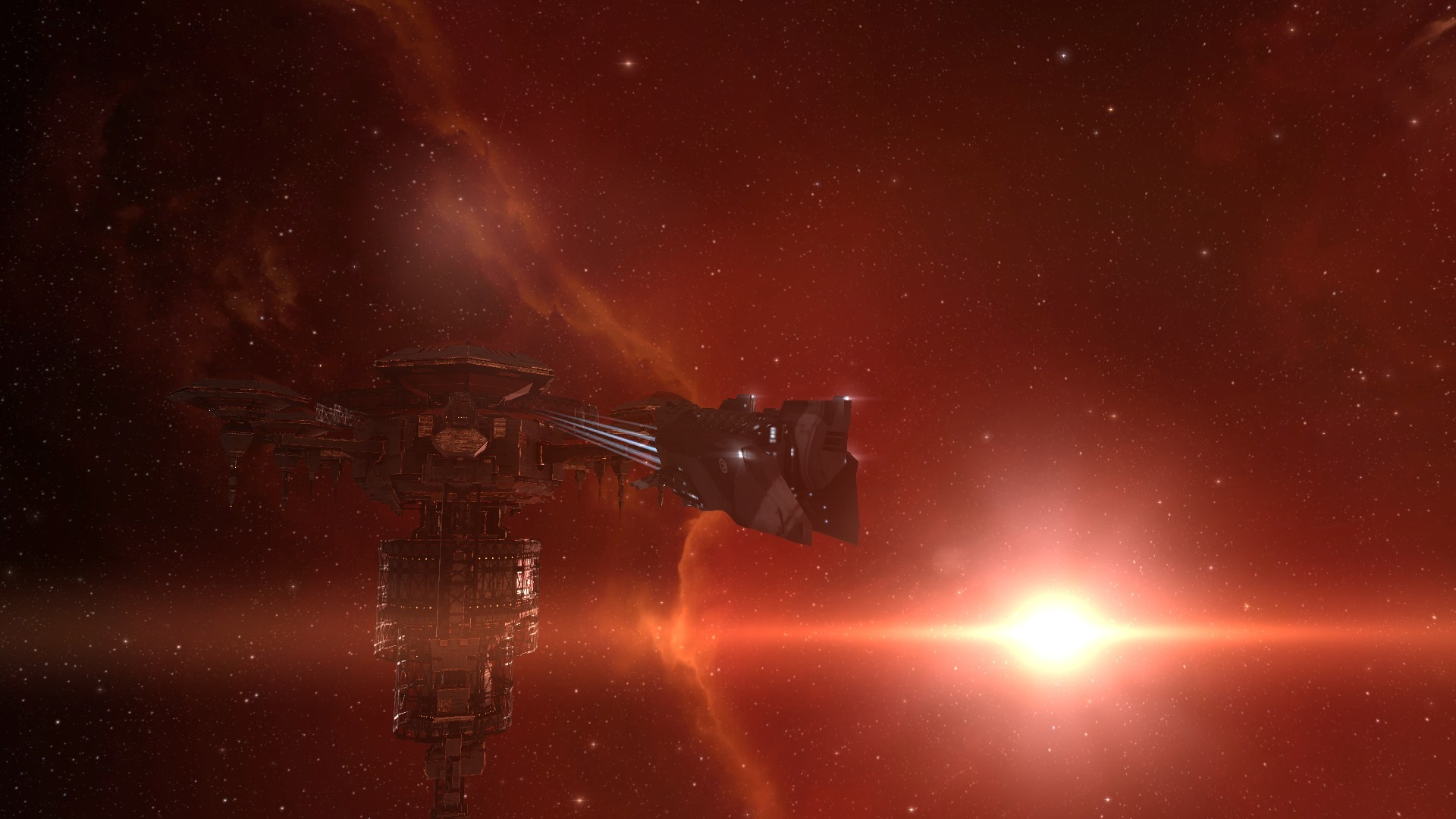 Res: 1920x1080, Outer space stars spaceships station science fiction sci-fi wallpaper