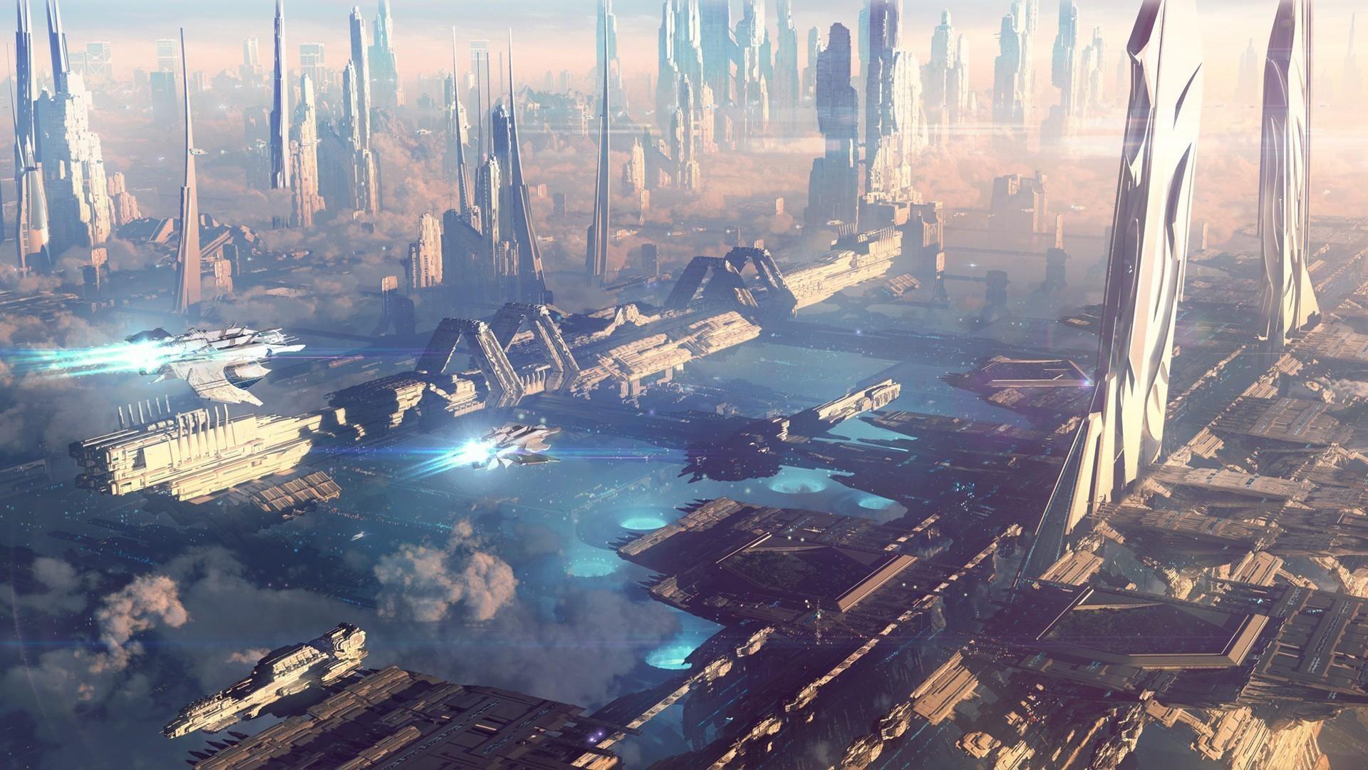 Res: 1920x1080, sci fi city wallpaper #671132