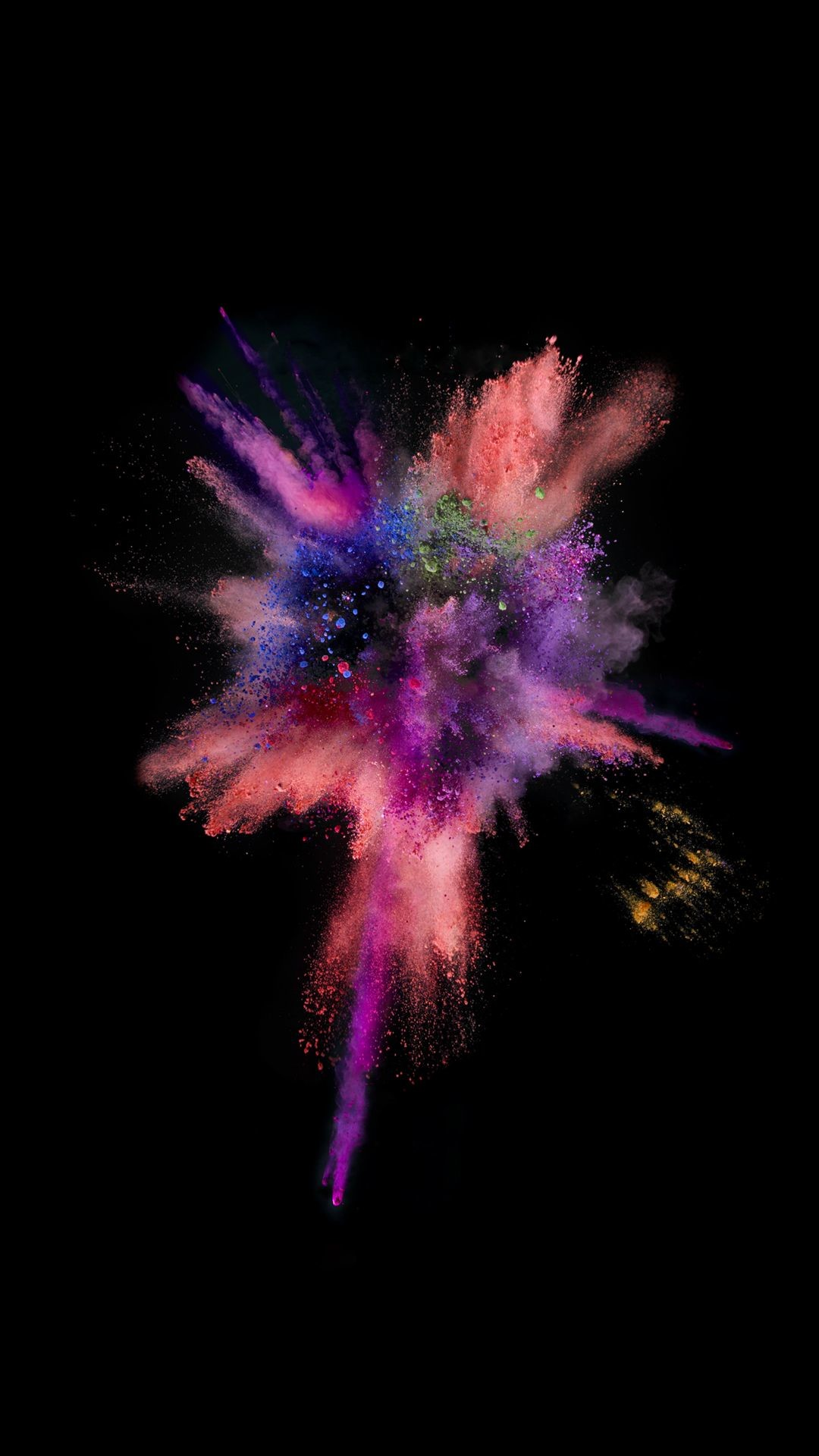 Res: 1080x1920, iOS9 Colorful Explosion Smoke Dark #iPhone #6 #wallpaper