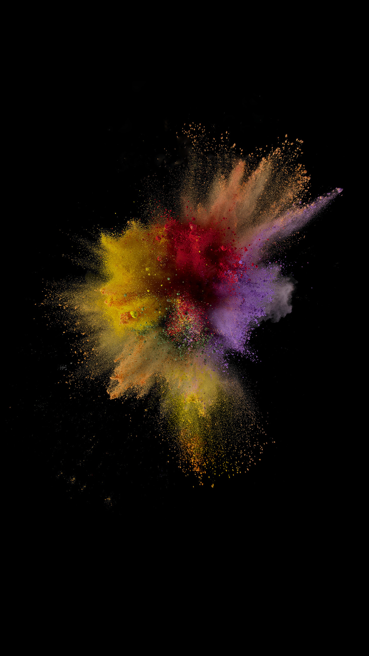 Res: 1242x2208, iOS 9 paint explosion number 1 wallpaper ...
