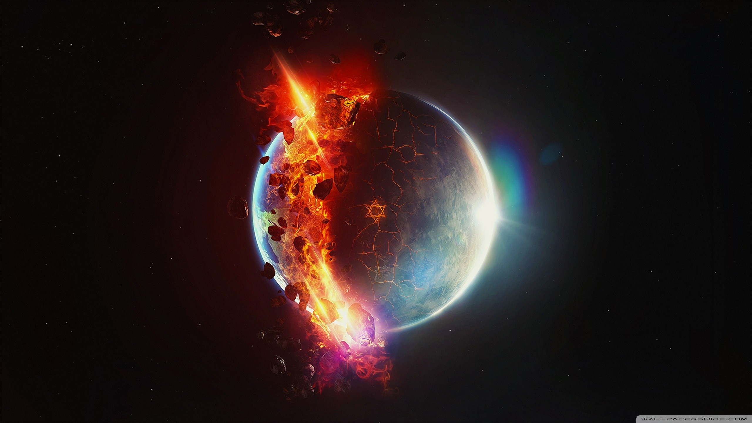 Res: 2560x1440, planet explosion Wallpaper 4 - 2560 X 1440