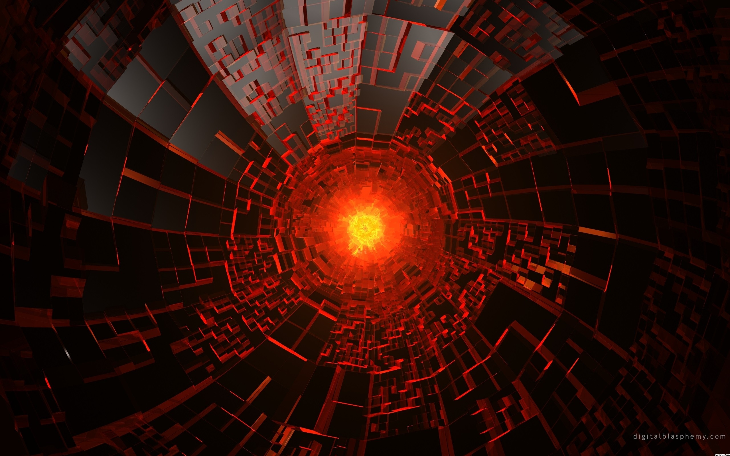 Res: 2560x1600, Red Abstract Explosion Wallpaper 28440