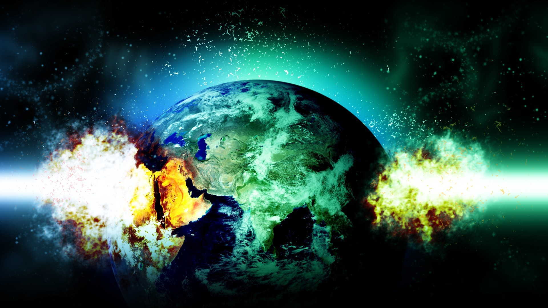 Res: 1920x1080, planet explosion Wallpaper 8 - 1920 X 1080
