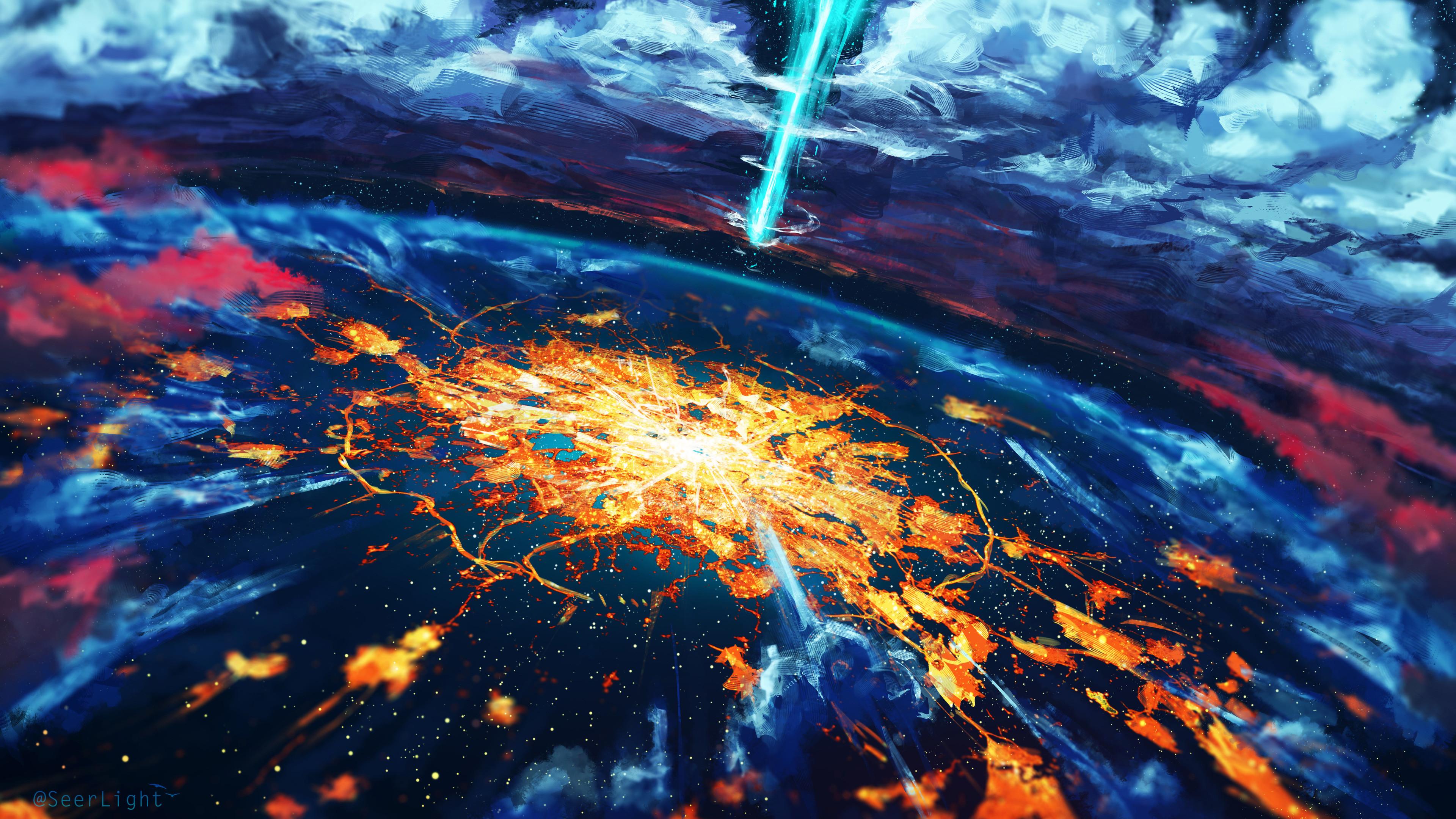 Res: 3840x2160, Apocalypse Cosmos Disaster Explosion World 4k