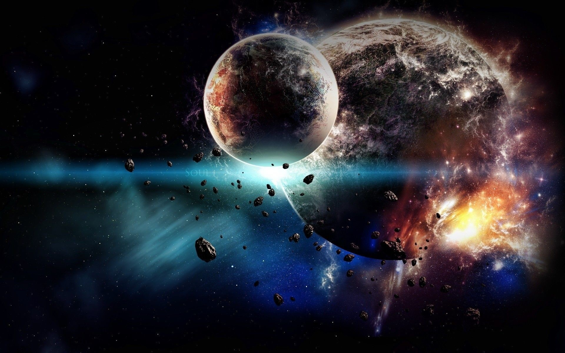 Res: 1920x1200, 1920x1080 Download Wallpaper 1920x1080 planet, explosion ...