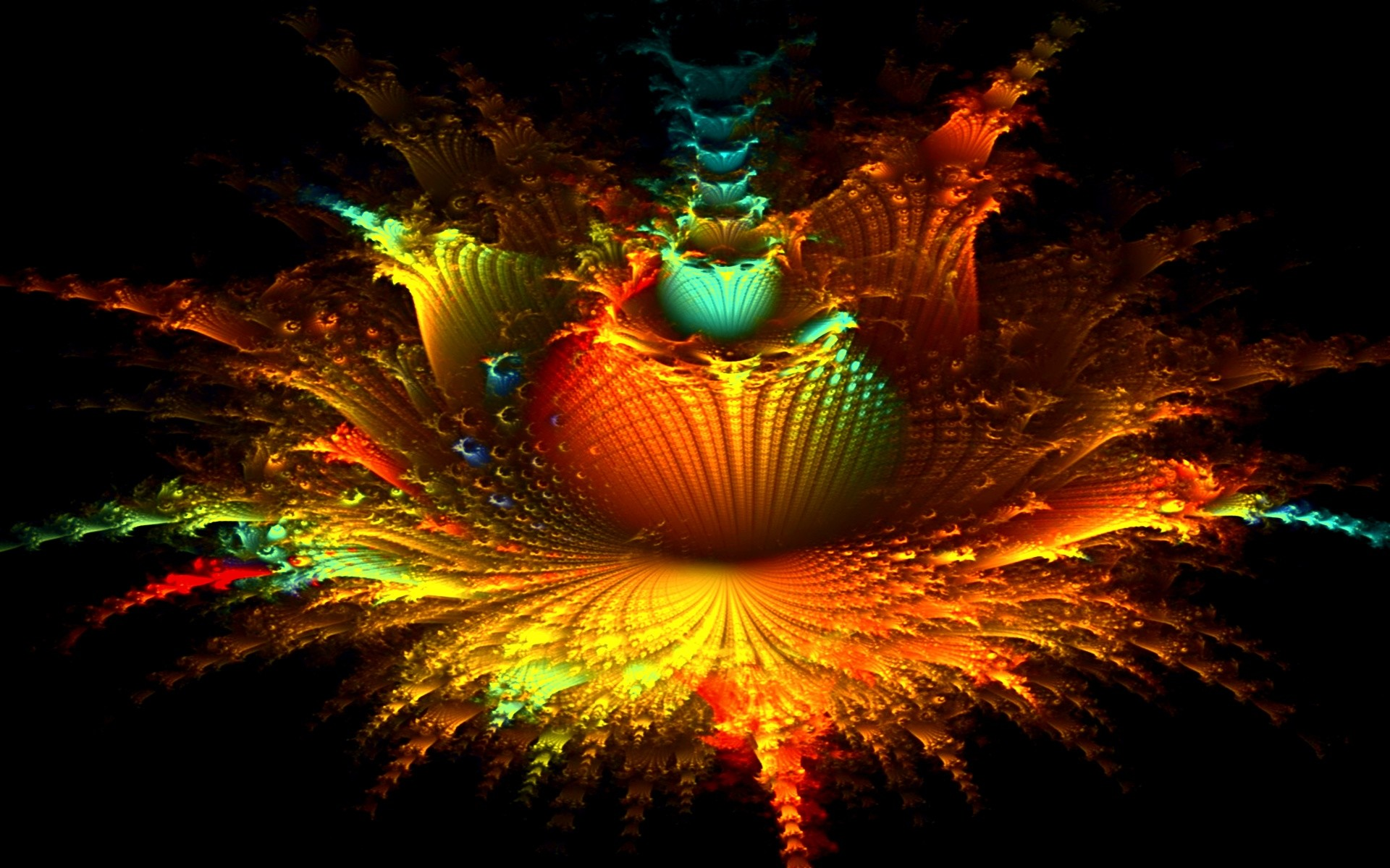 Res: 1920x1200, Image: Fractal Floral Explosion wallpapers and stock photos. Â«