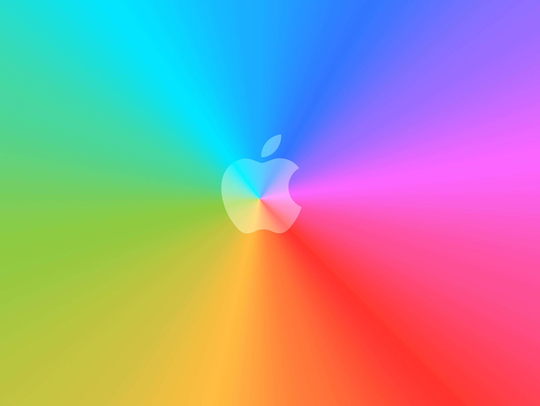 Res: 2880x2160, rainbow-apple-logo