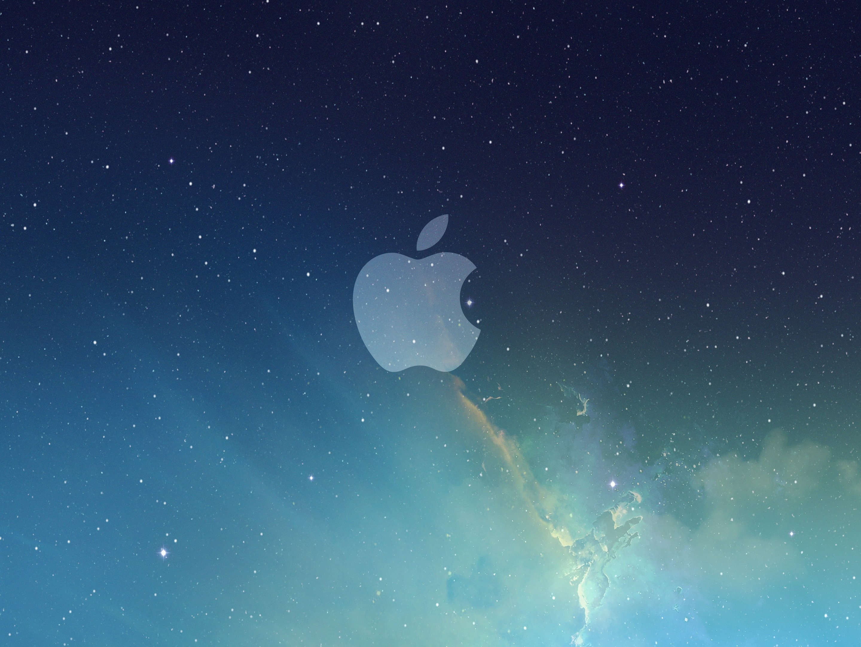 Res: 2880x2160, apple-logo-galaxy-wallpaper