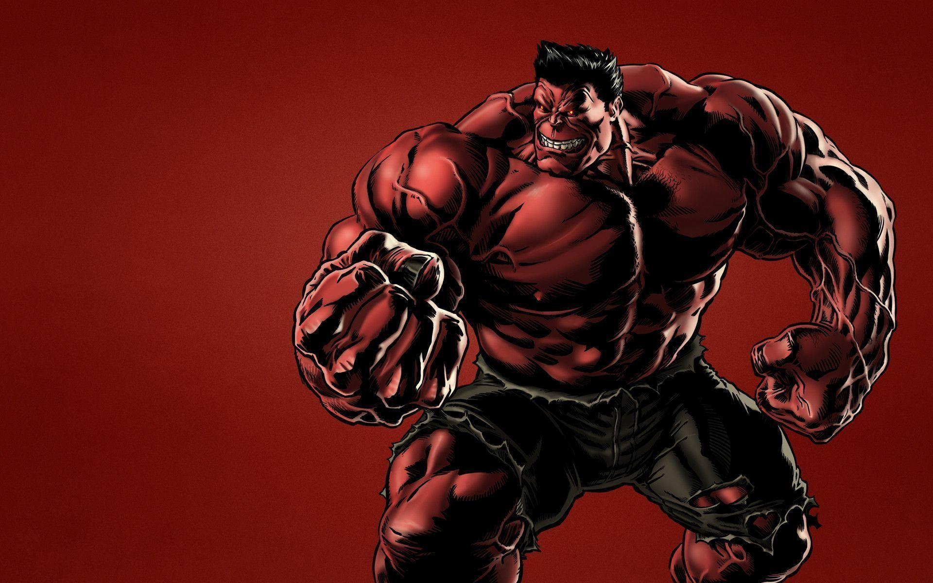 Res: 1920x1200, Red Hulk Wallpaper HD
