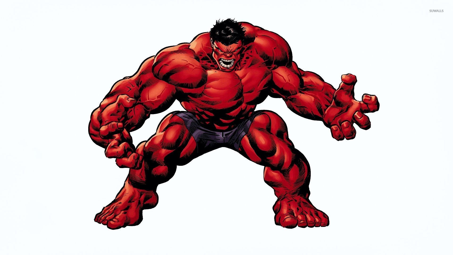 Res: 1920x1080, Angry Red Hulk wallpaper