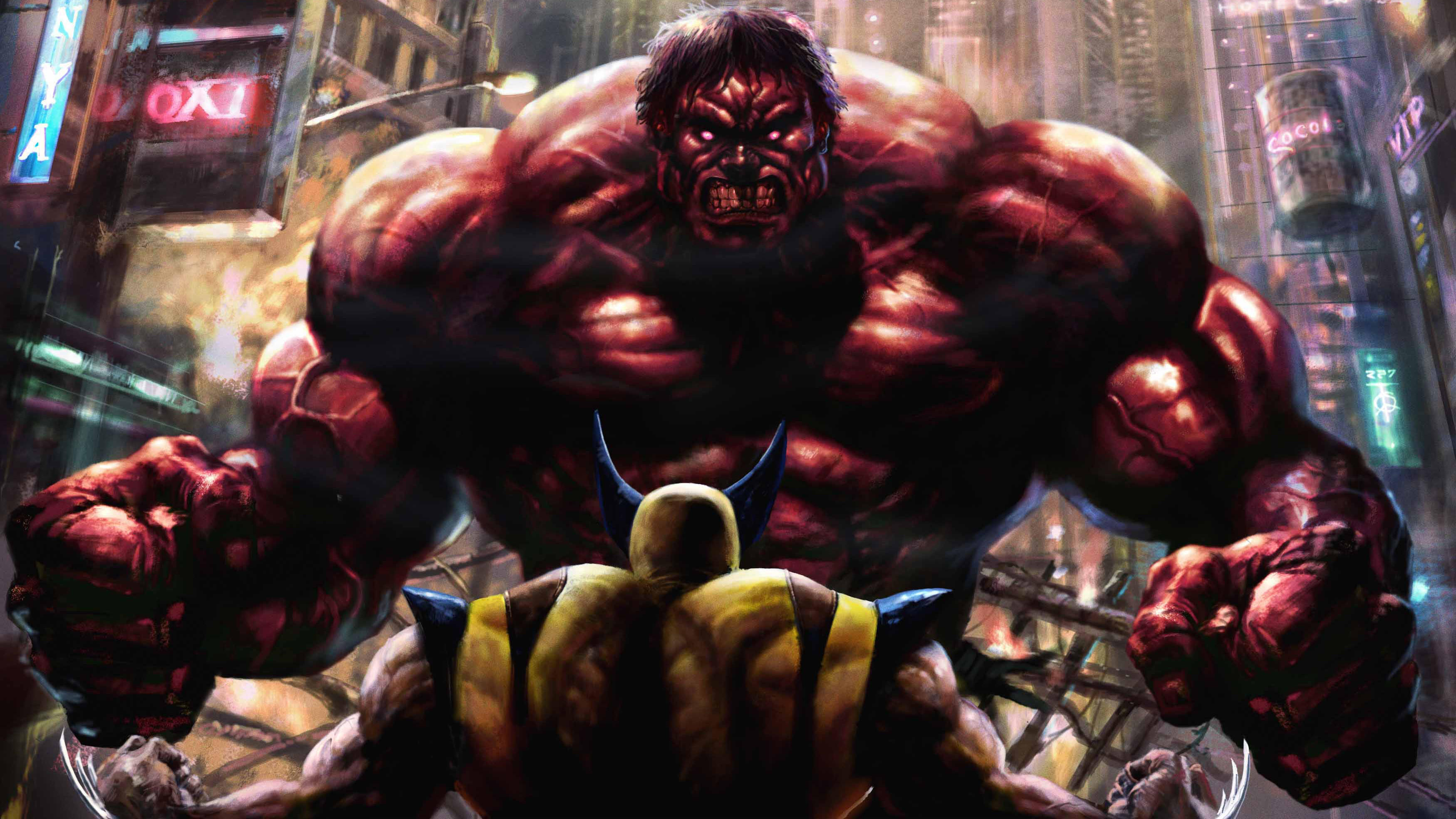 Res: 3500x1969, Big Trouble With Red Hulk