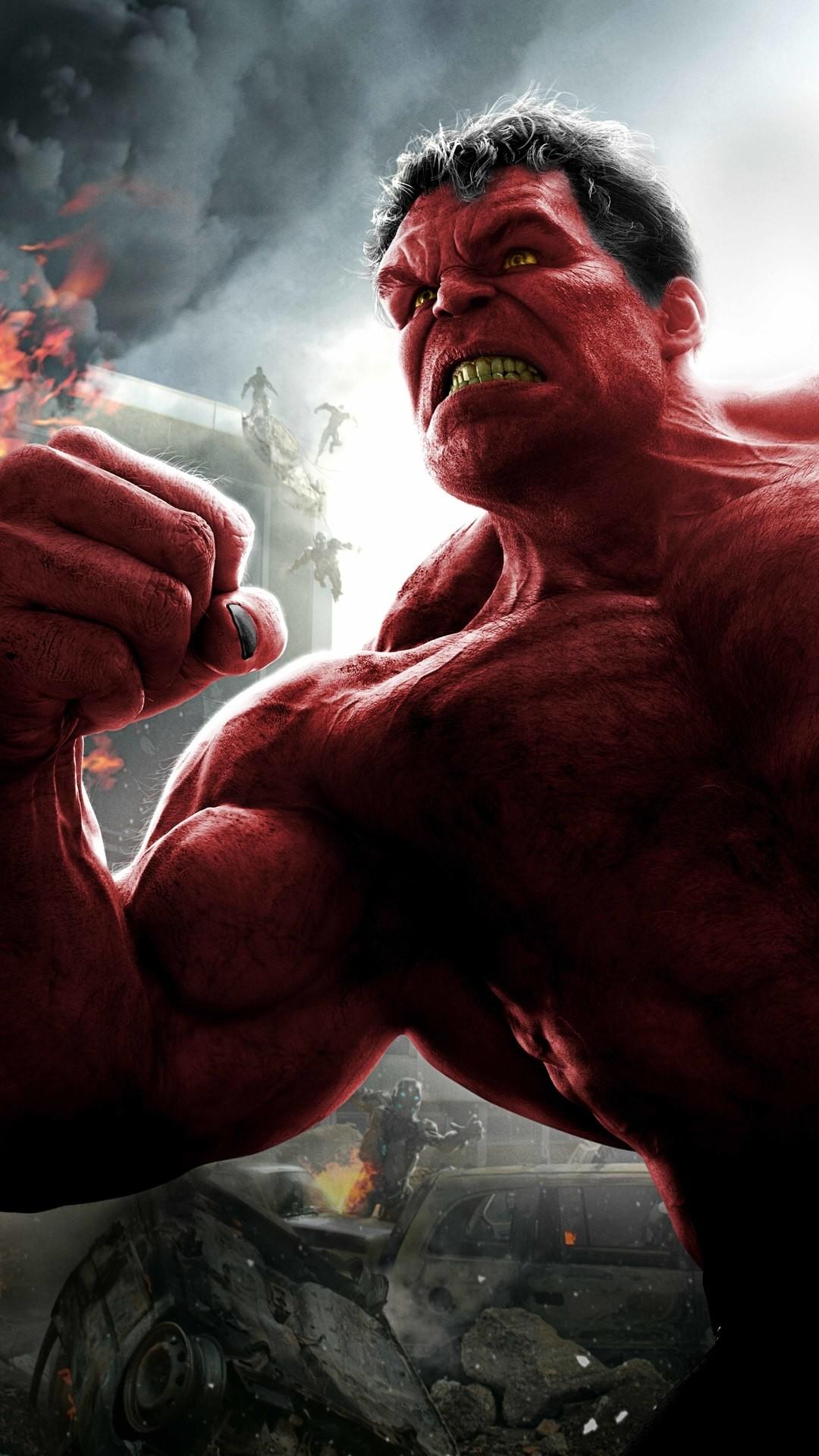 Res: 1080x1920, Red Hulk 8k (Iphone 7,6s,6 Plus, Pixel xl ,One Plus 3,3t,5)