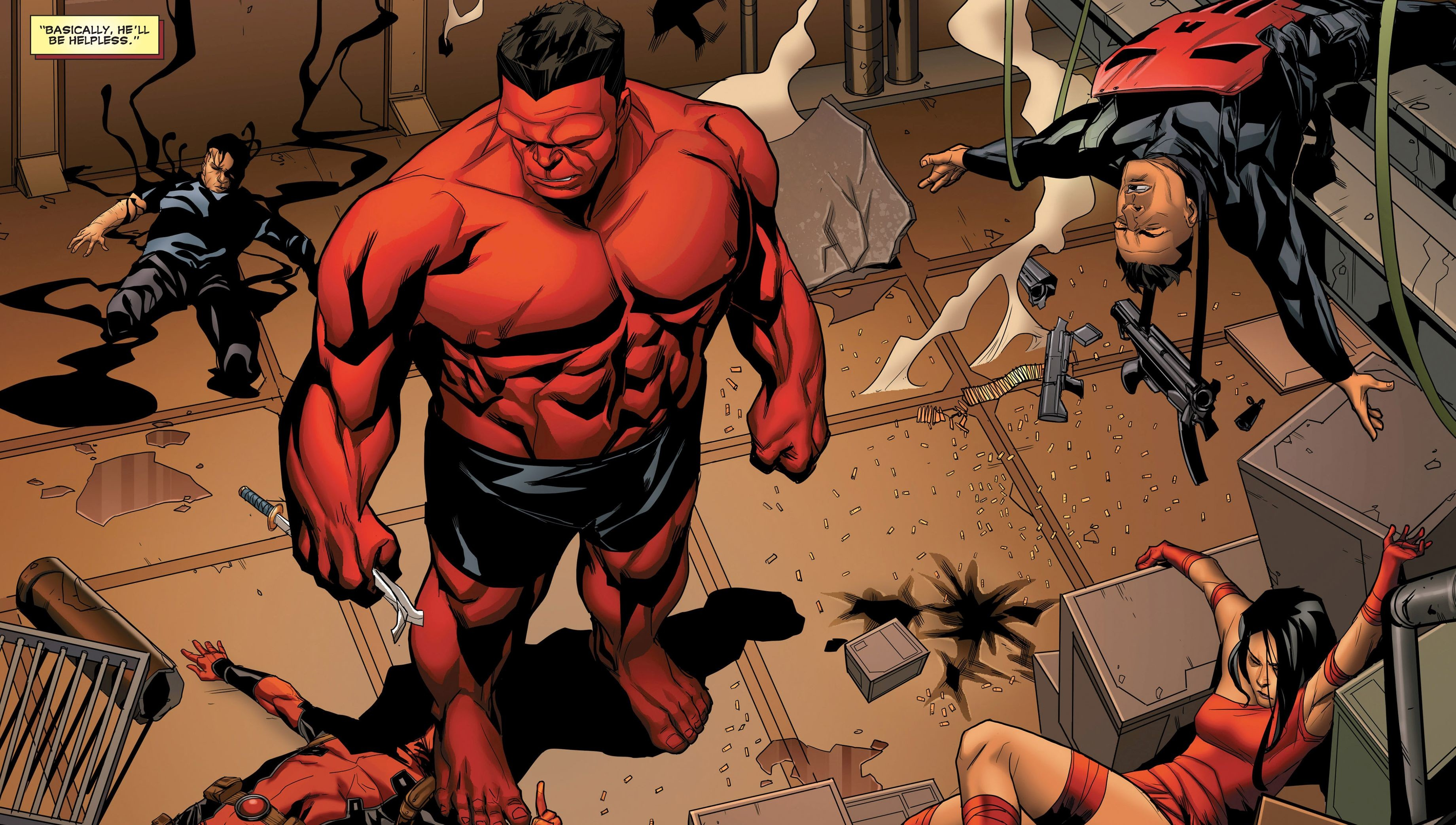 Res: 3681x2085, Red Hulk · HD Wallpaper | Background Image ID:783155