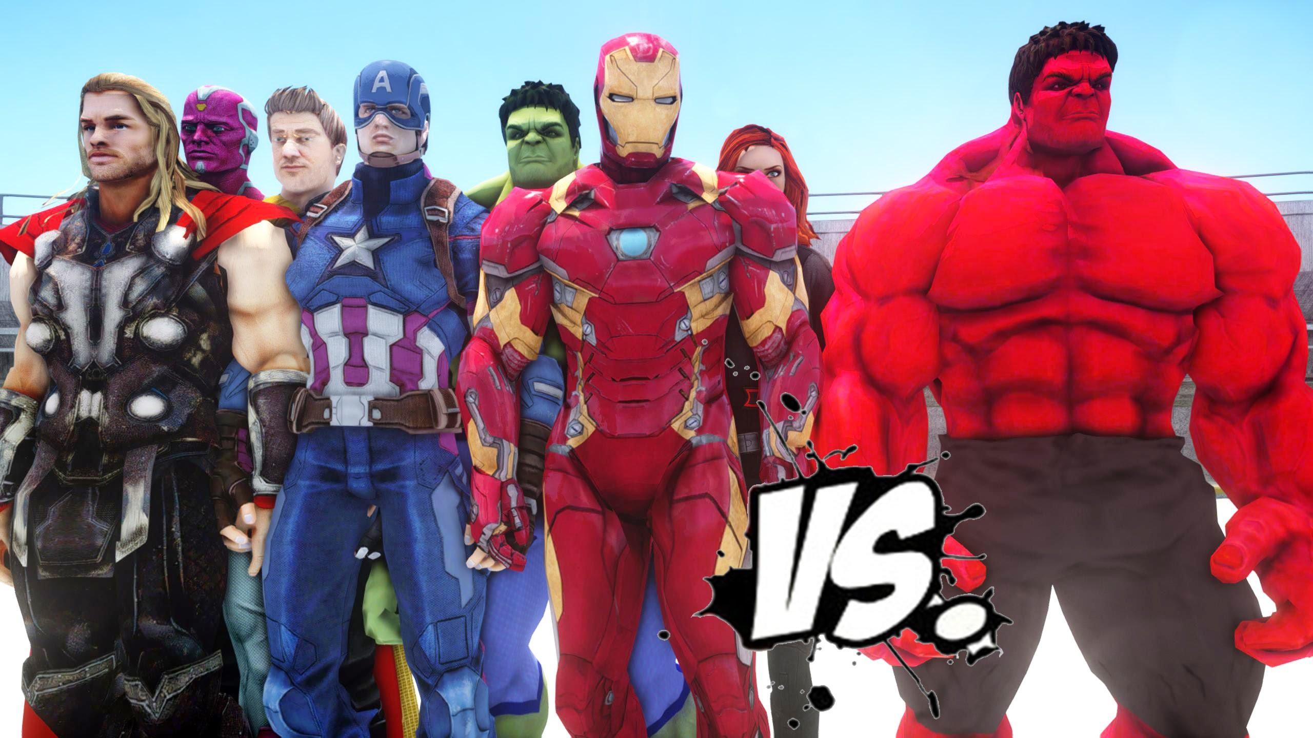 Res: 2560x1440, Red Hulk Avengers wallpaper