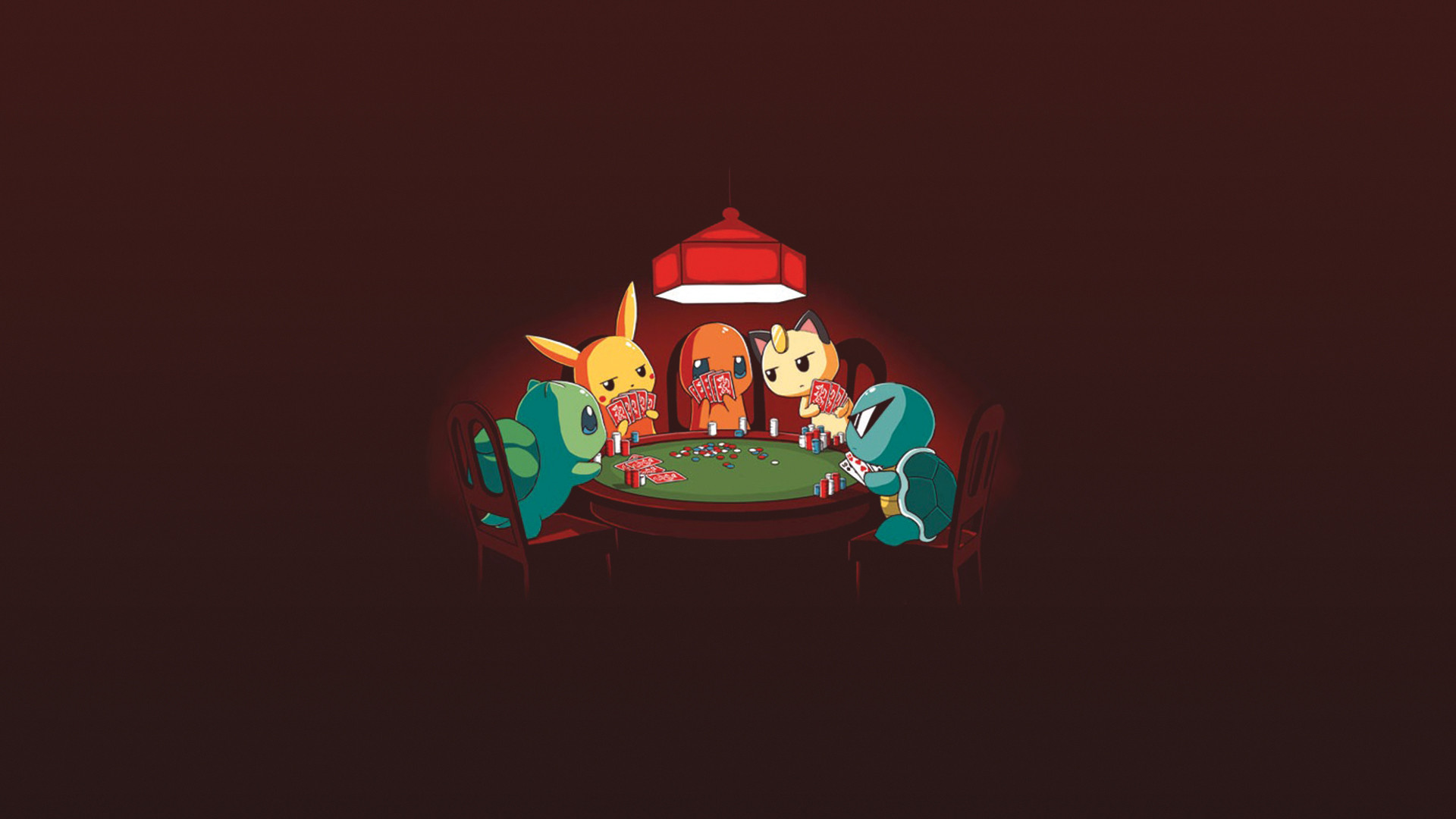 Res: 1920x1080, [] Made a wallpaper out of that Pokemon poker picture ...