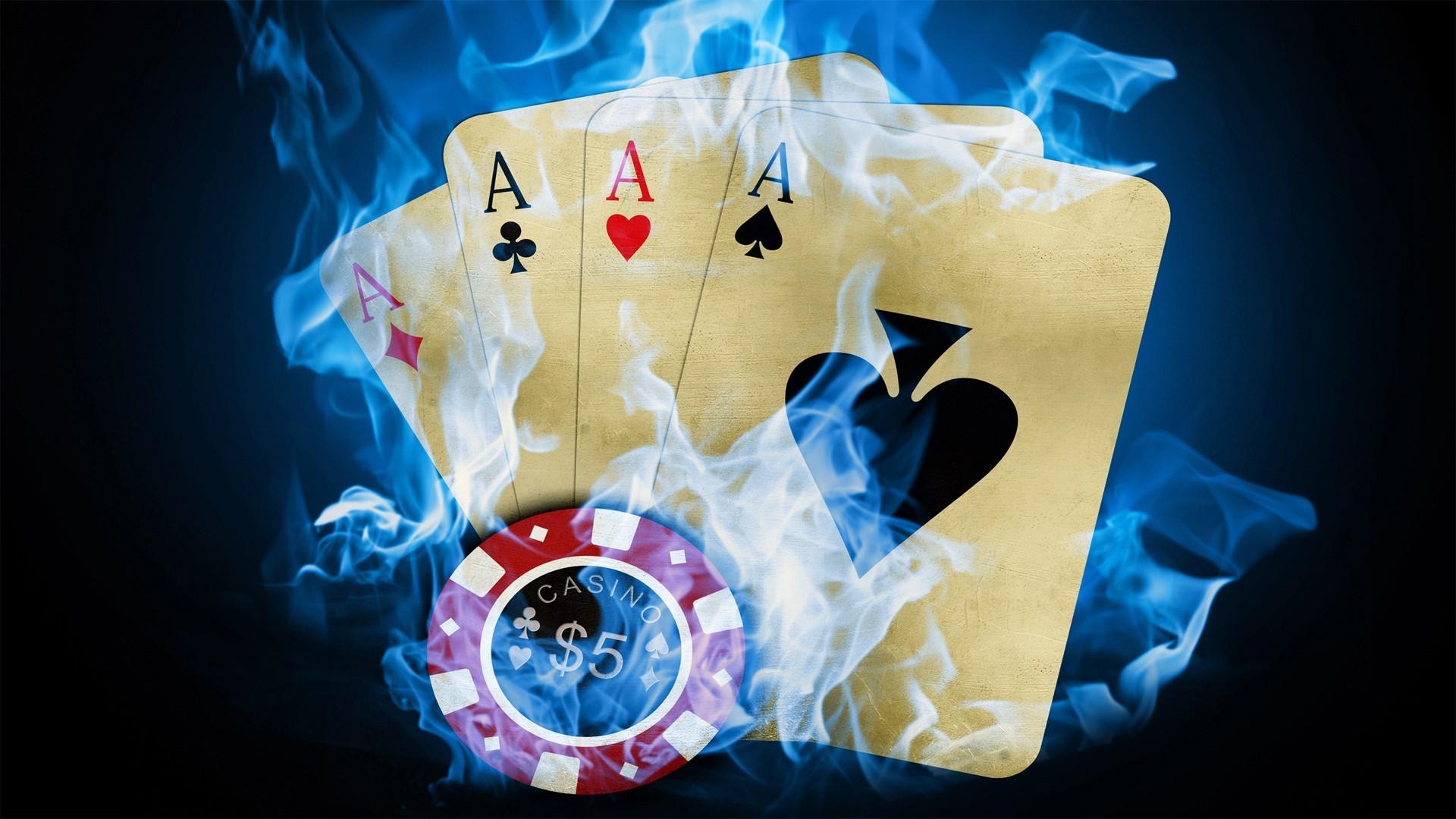 Res: 1920x1080, #digital art, #fire, #poker wallpaper