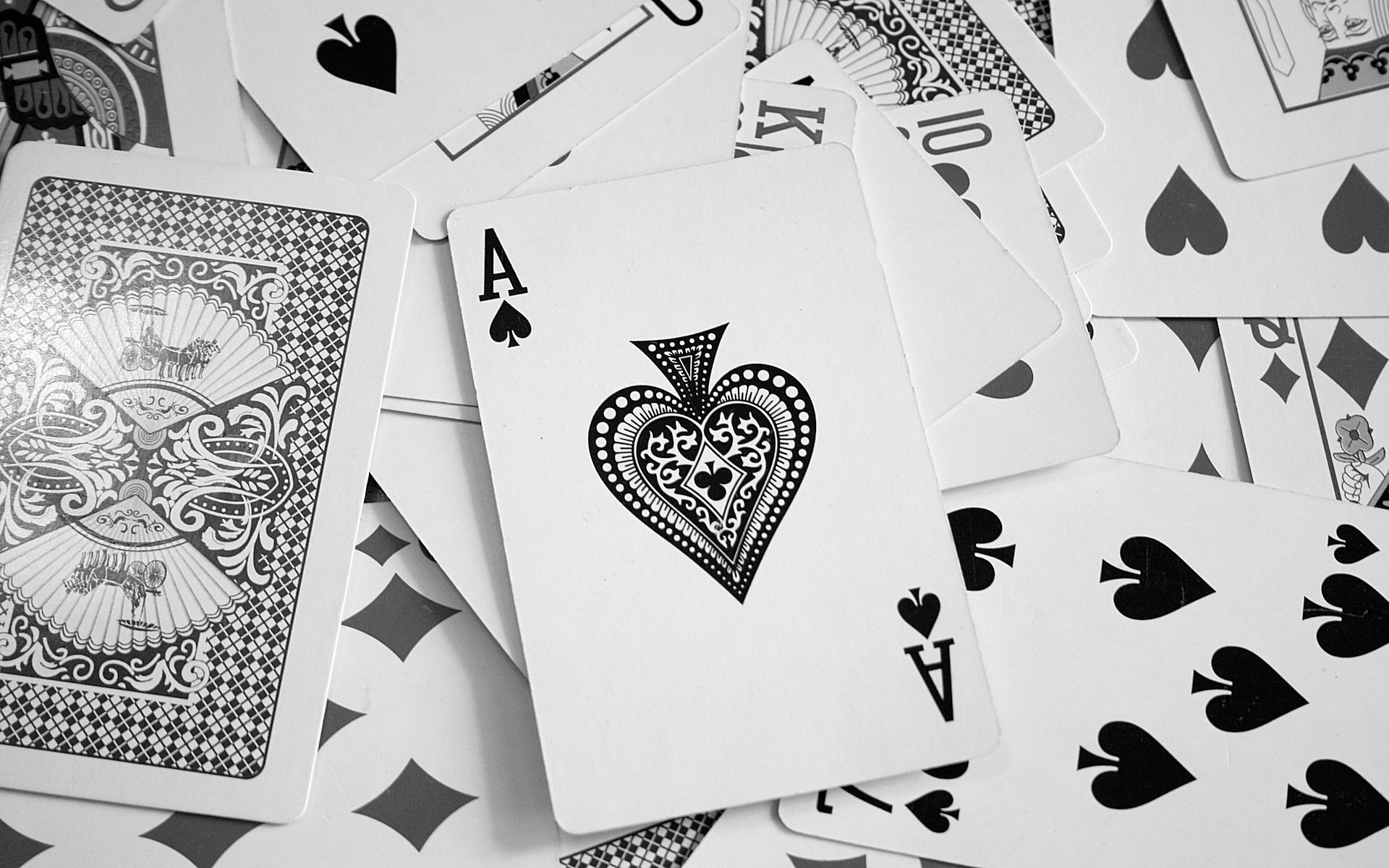 Res: 1920x1200, Ace cards karty pik poker wallpaper