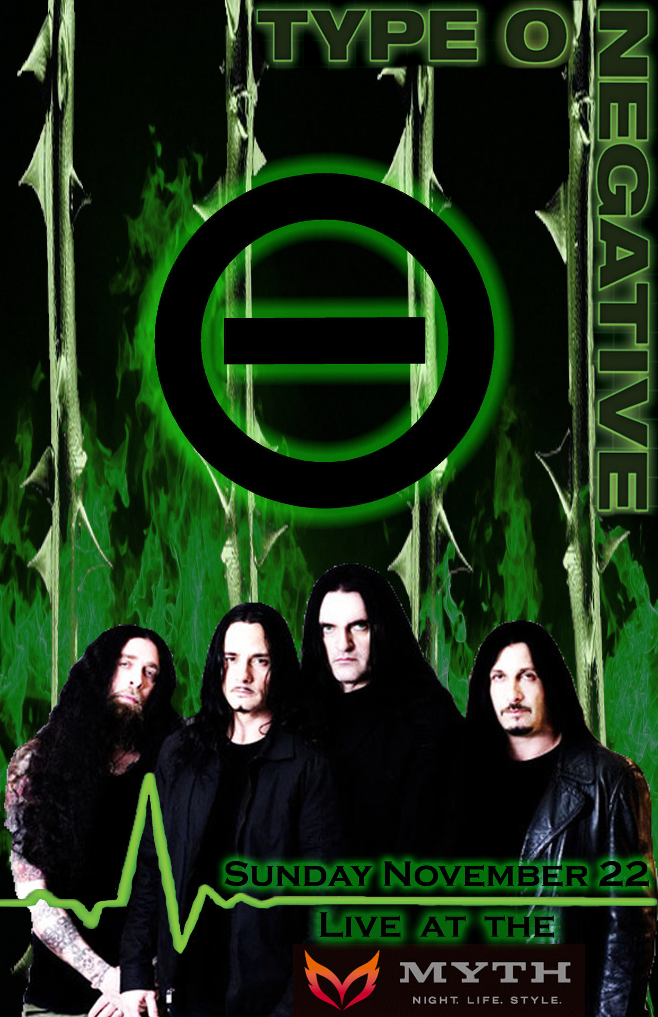 Res: 1280x1978, Type O Negative Concert Poster by Nocxus