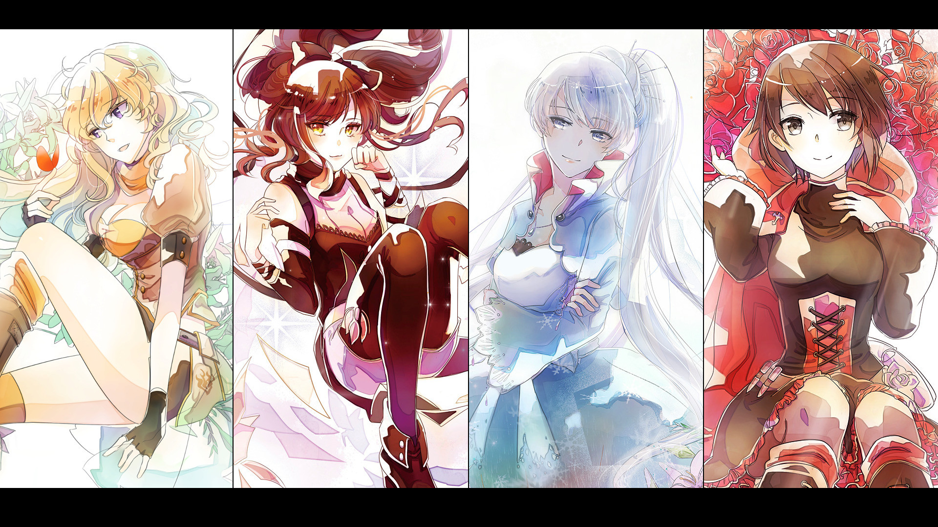 Res: 1920x1080, anime rwby ruby rose weiss schnee blake belladonna yang xiao long wallpaper  and background