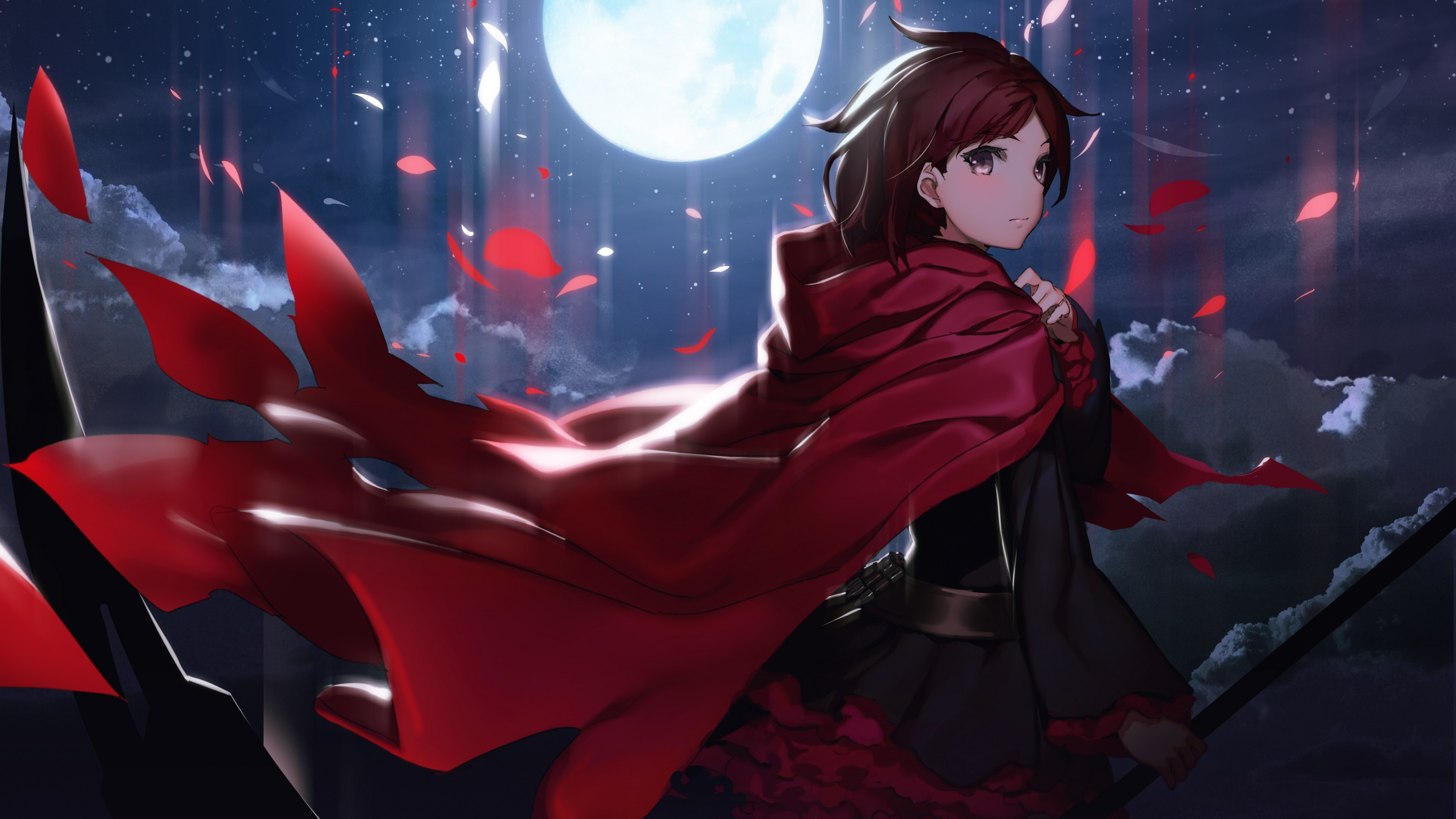 Res: 3840x2160, Anime / Ruby Rose Wallpaper