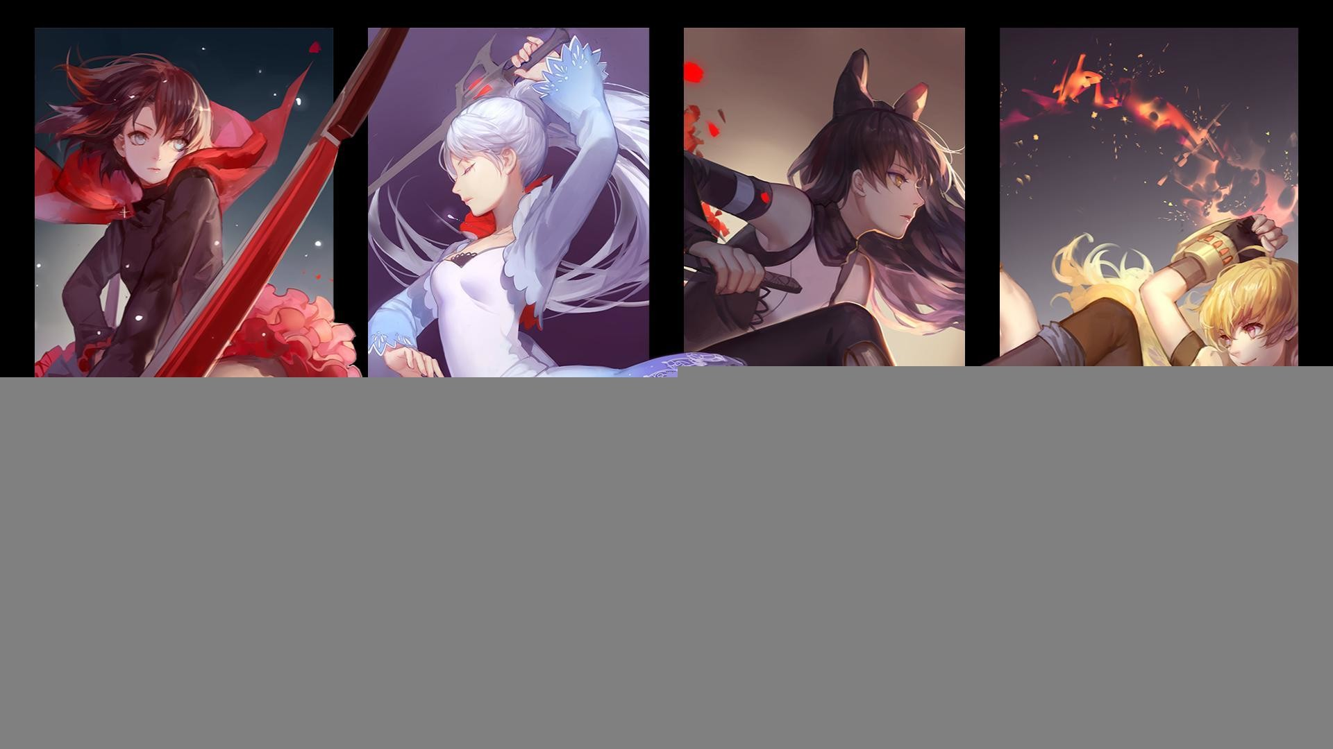 Res: 1920x1080, Wallpaper rwby ruby weiss blake yang rooster teeth wallpapers 1680x1050