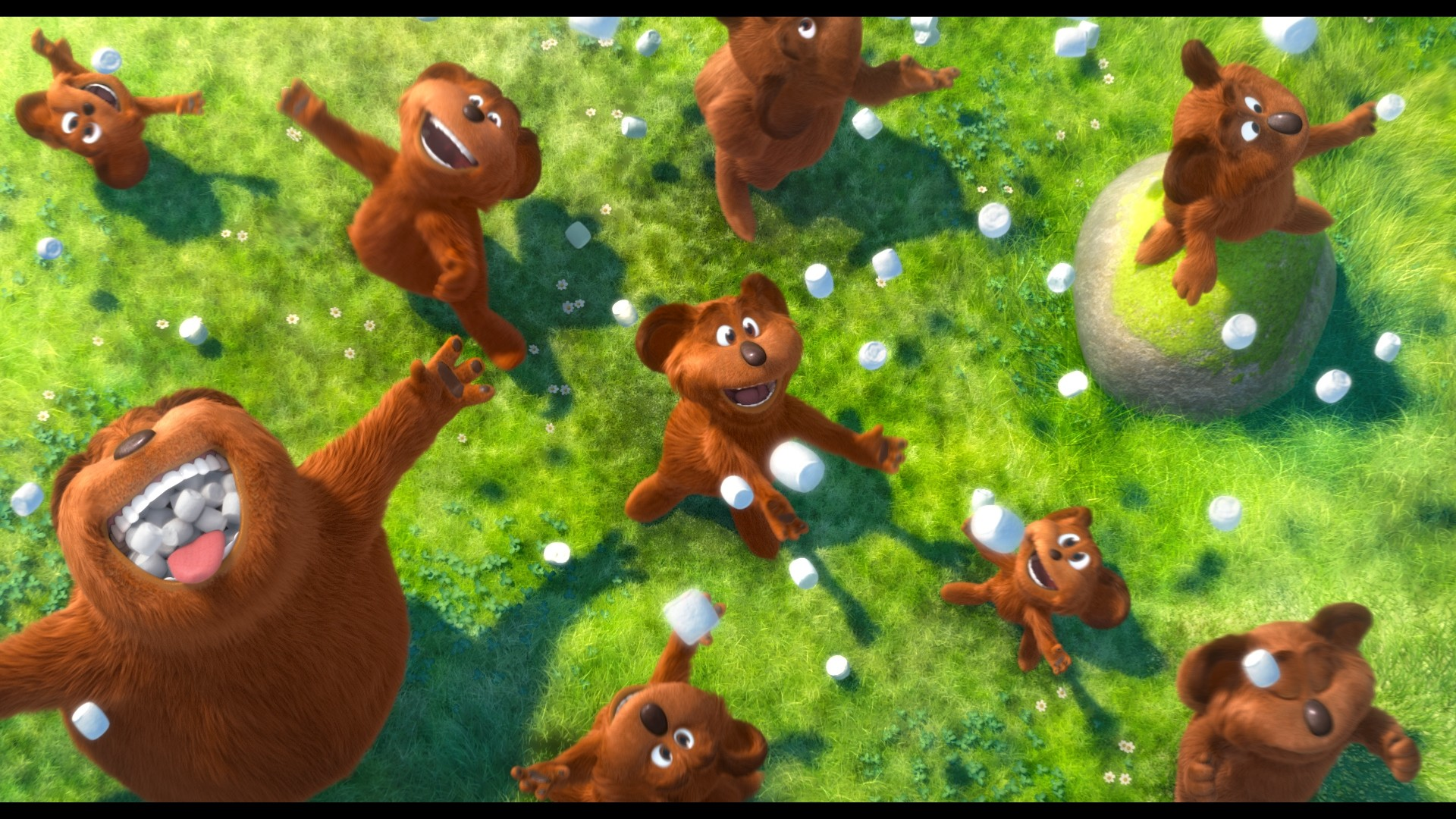 Res: 1920x1080, bears and raining marshmallows from Dr. Seuss The Lorax Movie 2012 wallpaper