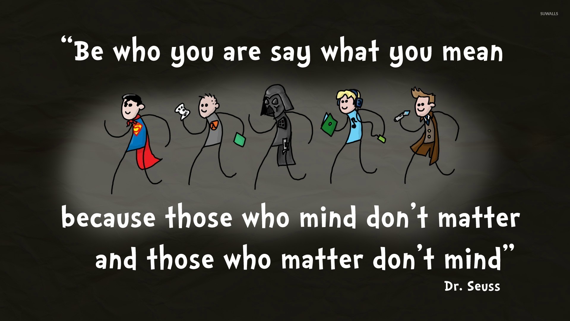 Res: 1920x1080, Dr. Seuss quote wallpaper