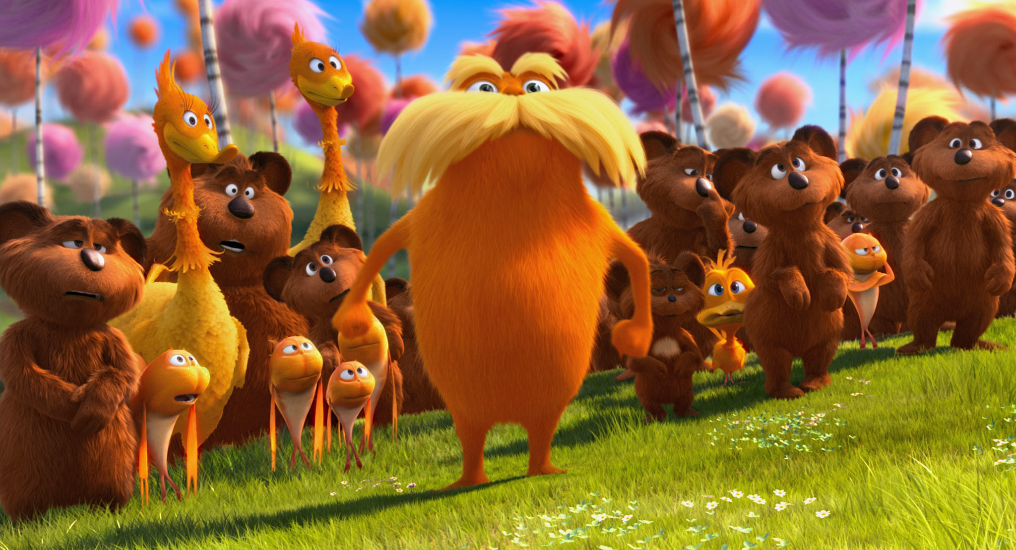Res: 2048x1109, Dr Seuss The Lorax Wallpaper 4 - 2048 X 1109