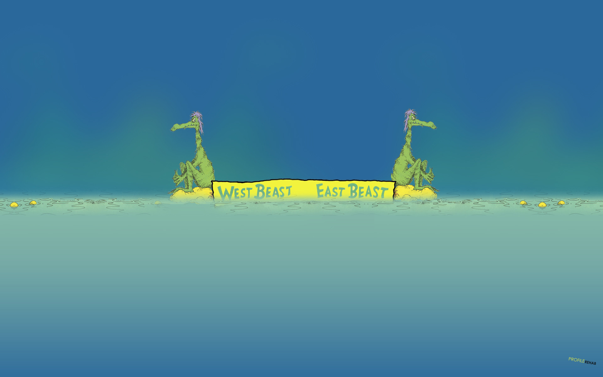 Res: 1920x1200, [] East Beast West Beast Wallpaper - Cool Dr Seuss Wallpaper -  Wallpaper Download - Profilerehab